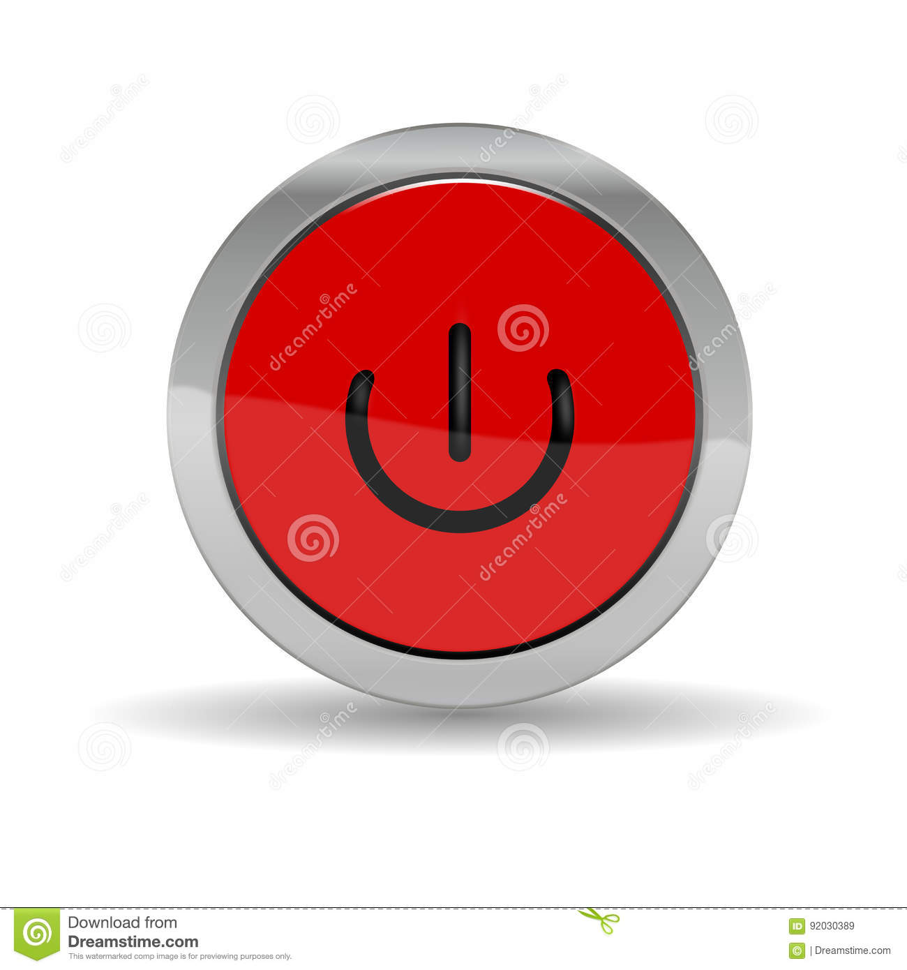 Start stop button, icon stock illustration  Illustration of