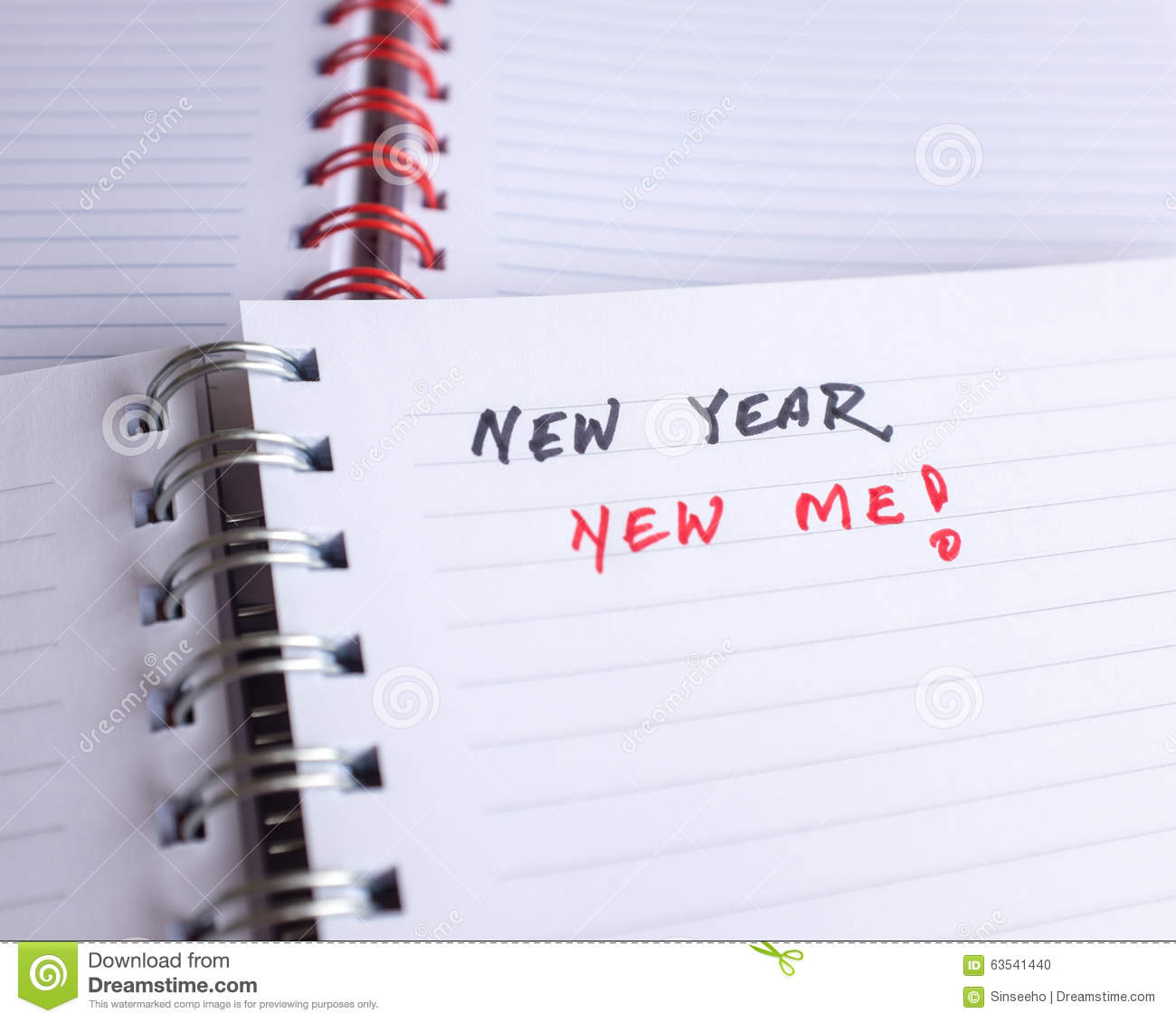 Start Thinking Of New Year Resolutions Stock Photo - Image of ...