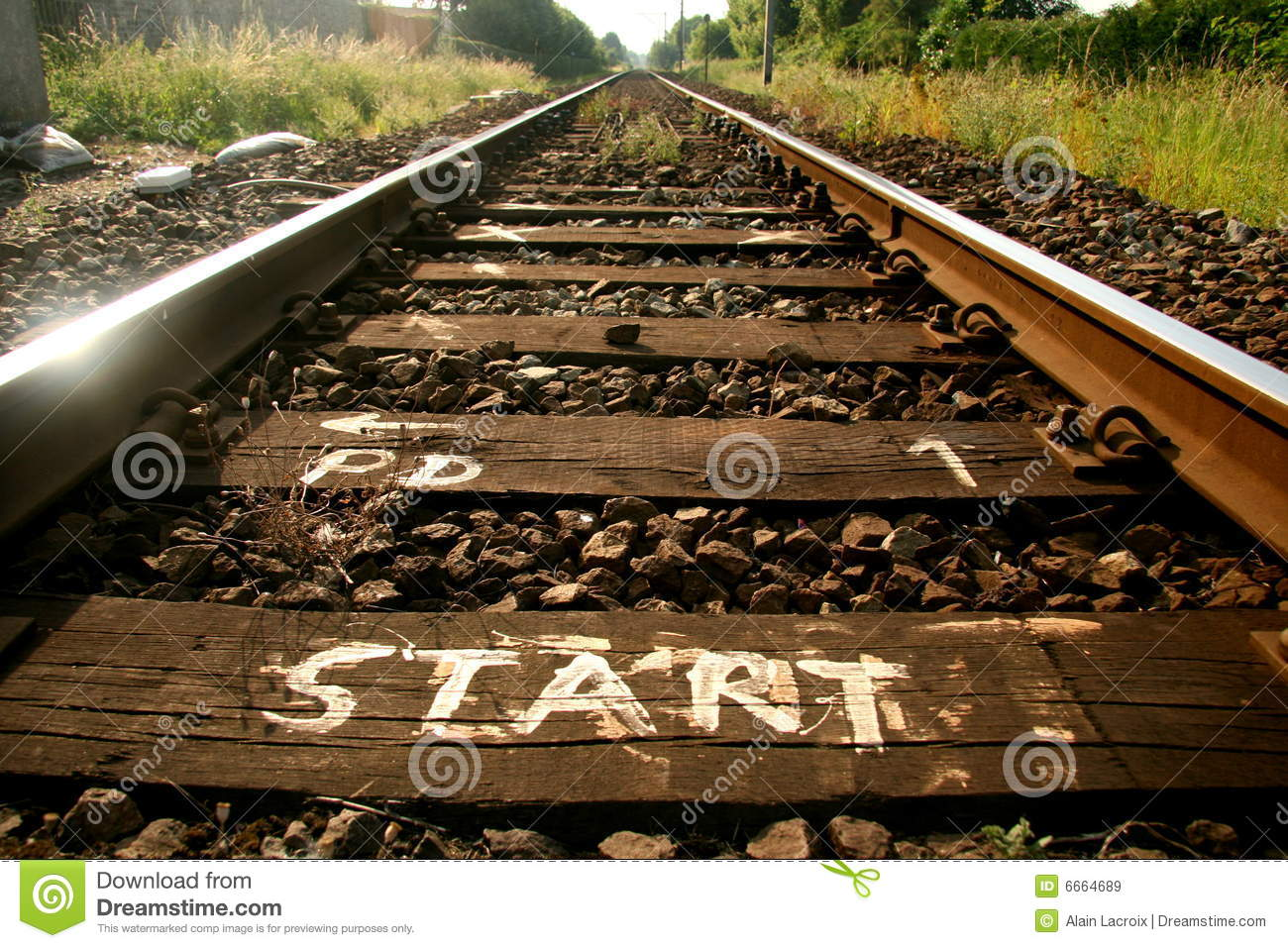 Download Start of the tracks stock image. Image of head, continue - 6664689