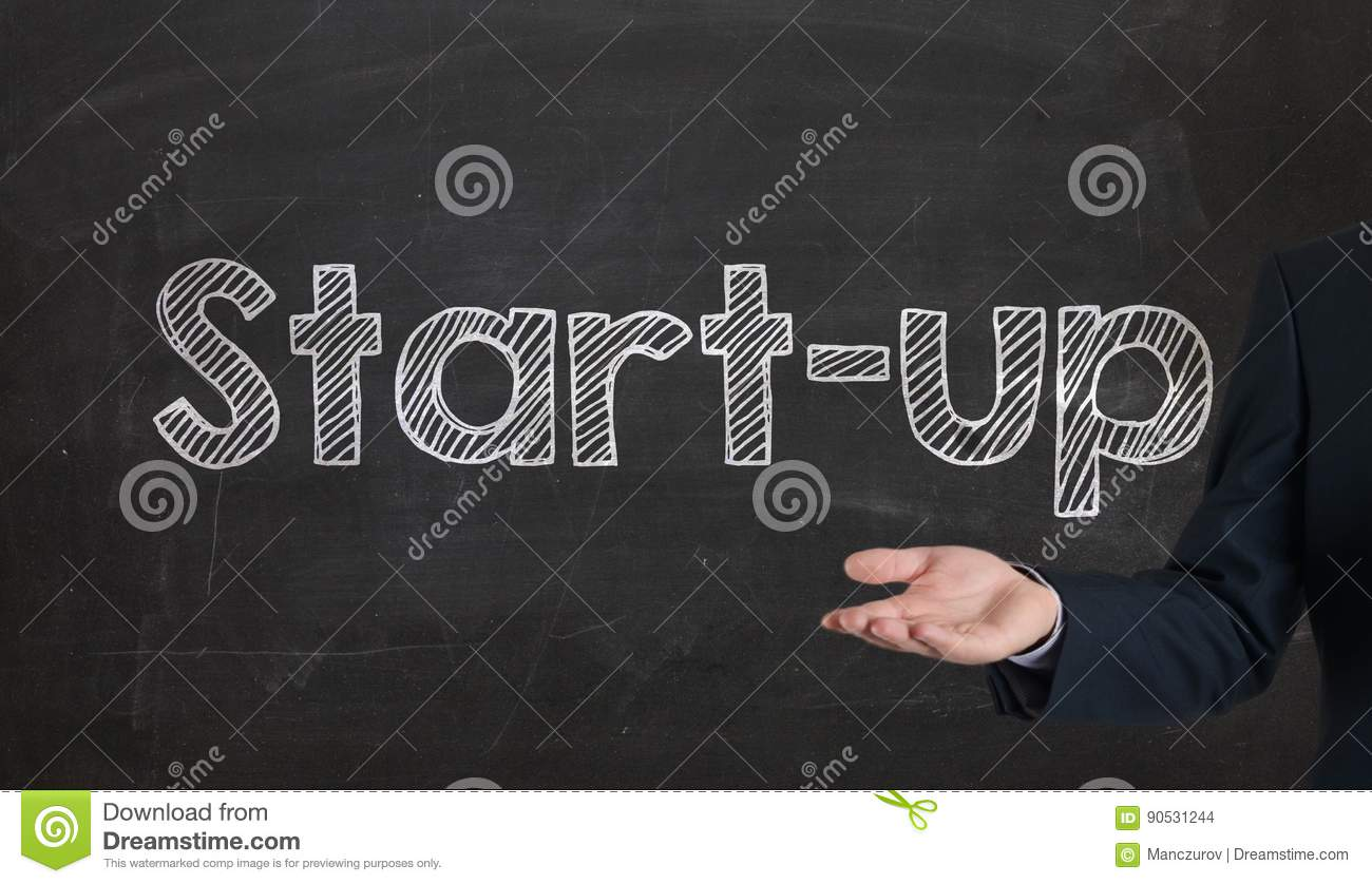 Start-up - Business And Innovation Concept Presenting On
