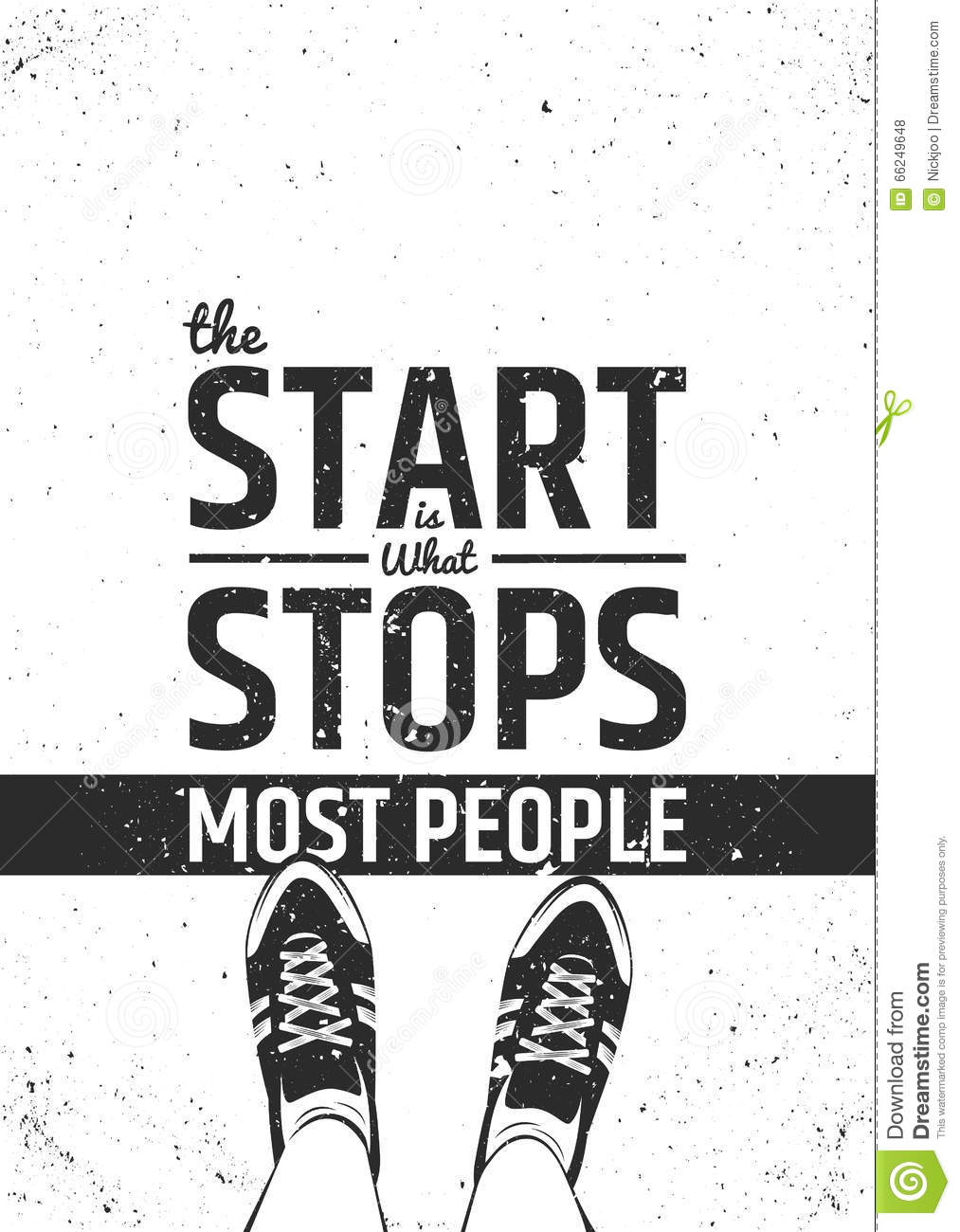 The start is what stops most people motivational inspiring quote on ...