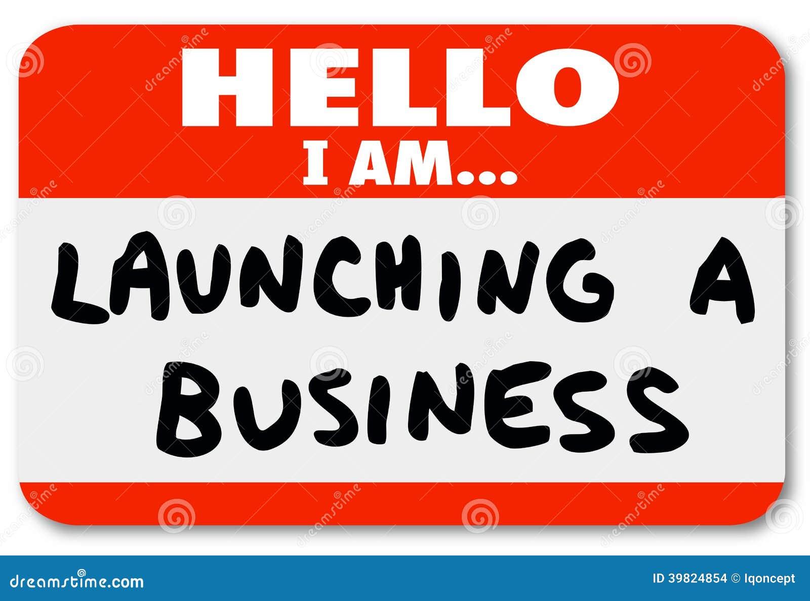 Starten eines Anfangs Geschäfts-Namensschild Sticker New Company