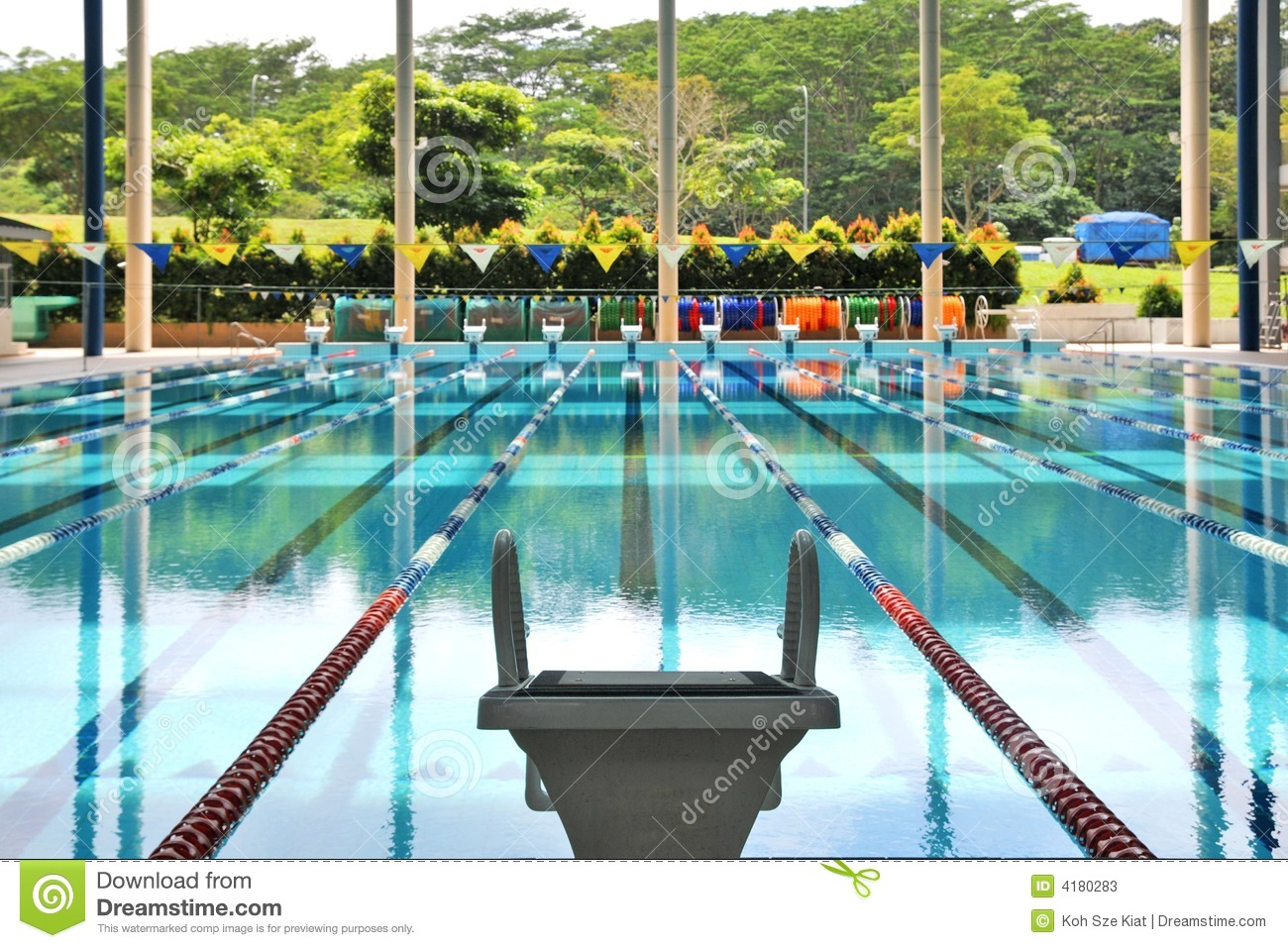 royalty free stock photo download starting block and empty swimming - Olympic Swimming Starting Blocks