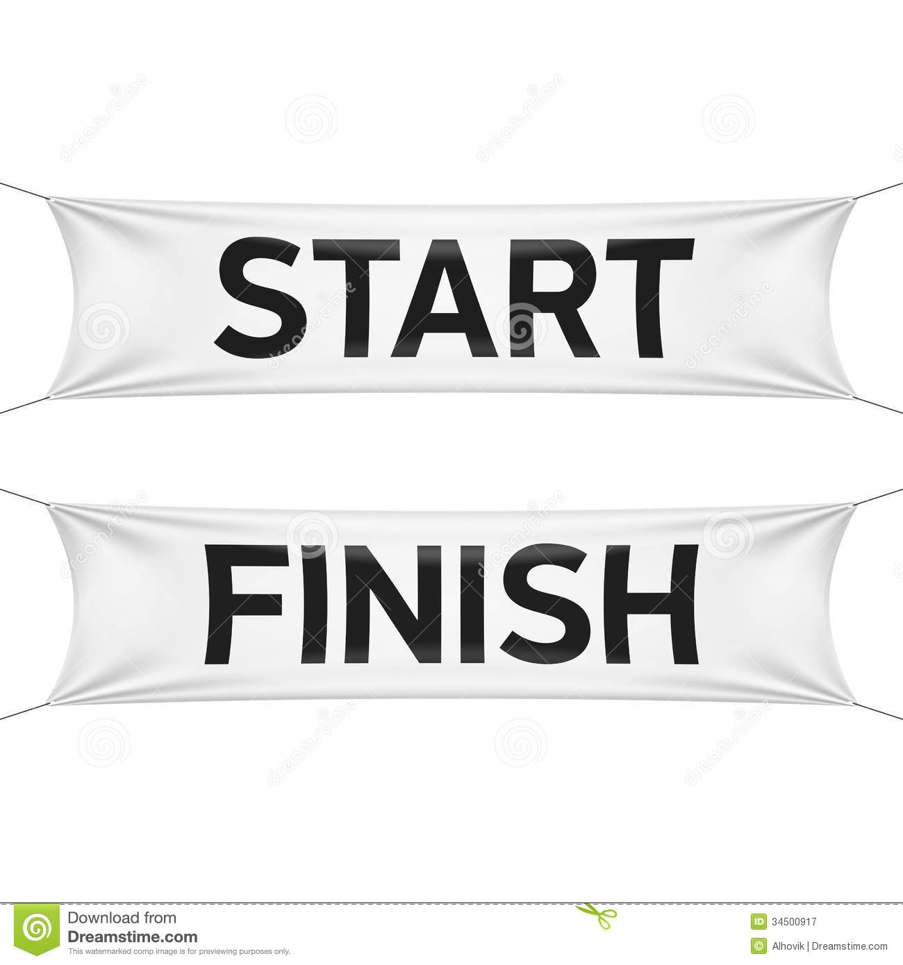 Starting And Finishing Lines Banners Stock Vector - Image ...