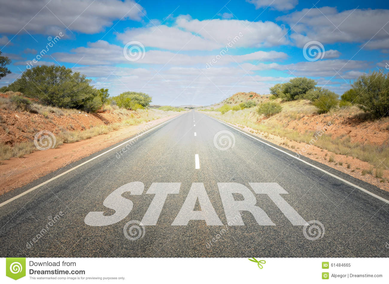 Starting Point Stock Photo Image 61484665