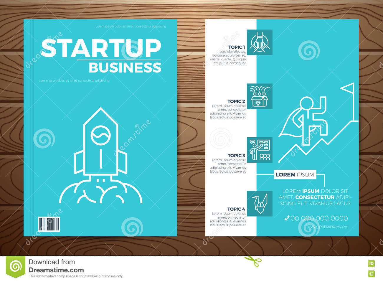 Business Book Cover Vector : Startup business book cover stock vector image