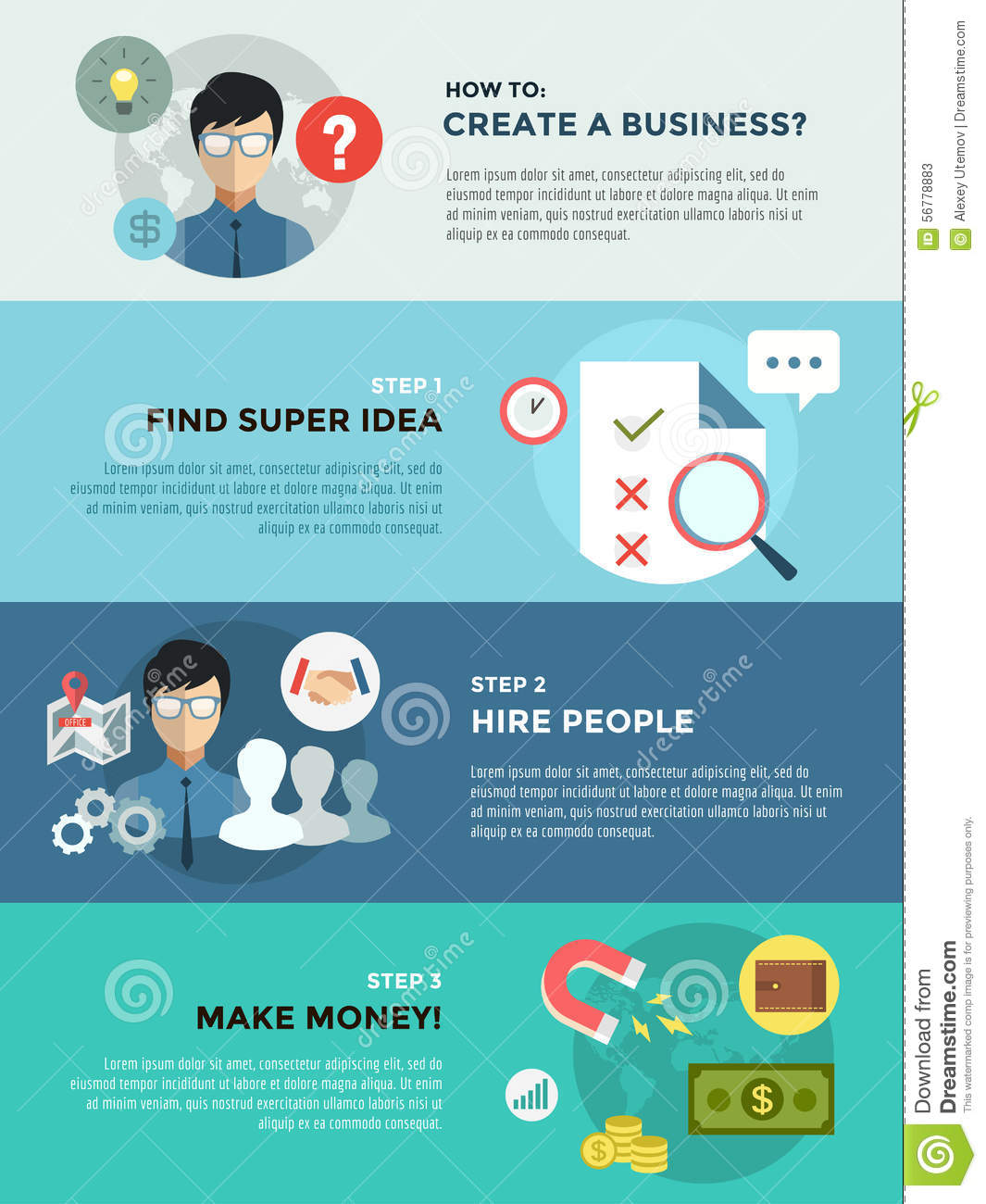 Startup Business Creation Infographic. Command Stock ...