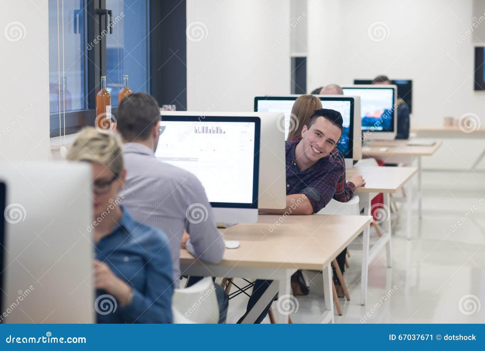Commercial Software Development : Startup business software developer working on desktop