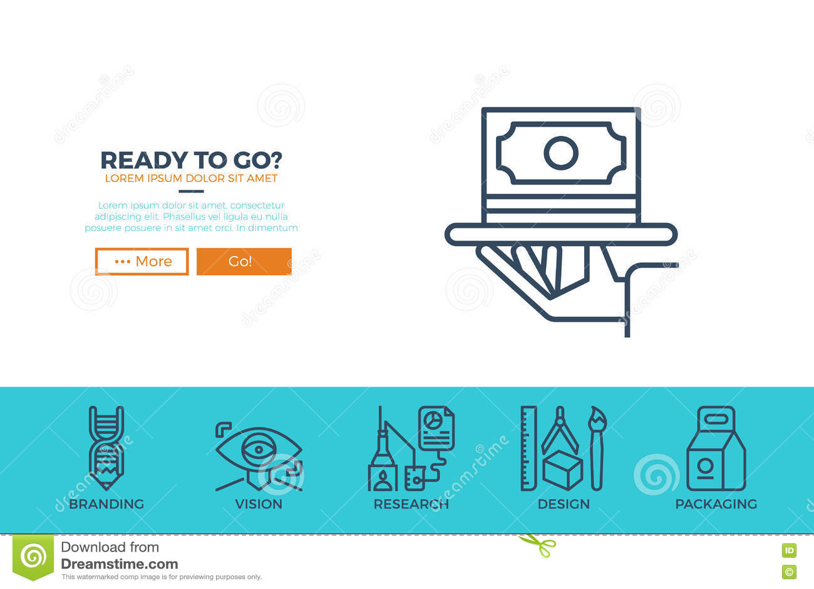 startup business web template stock vector image 71744042. Black Bedroom Furniture Sets. Home Design Ideas