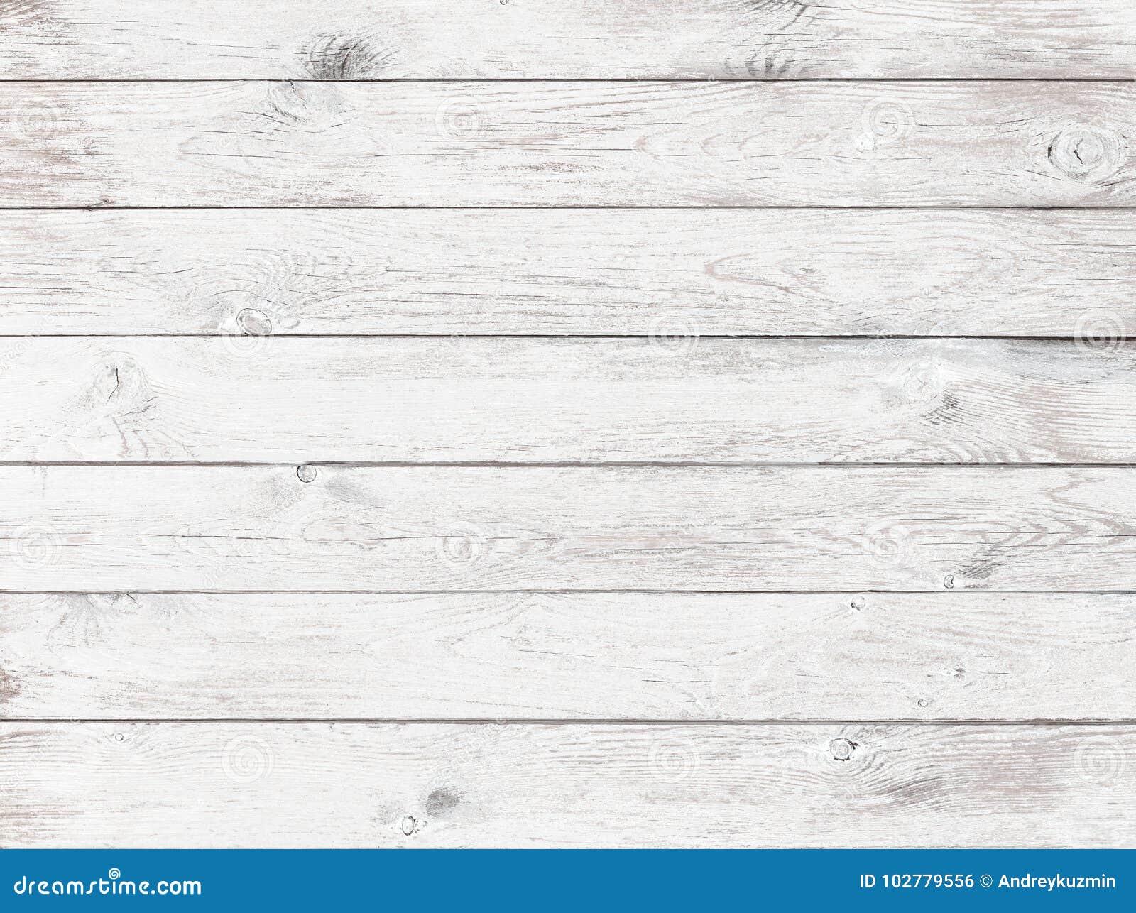 Stary biały drewniany tło lub tekstura