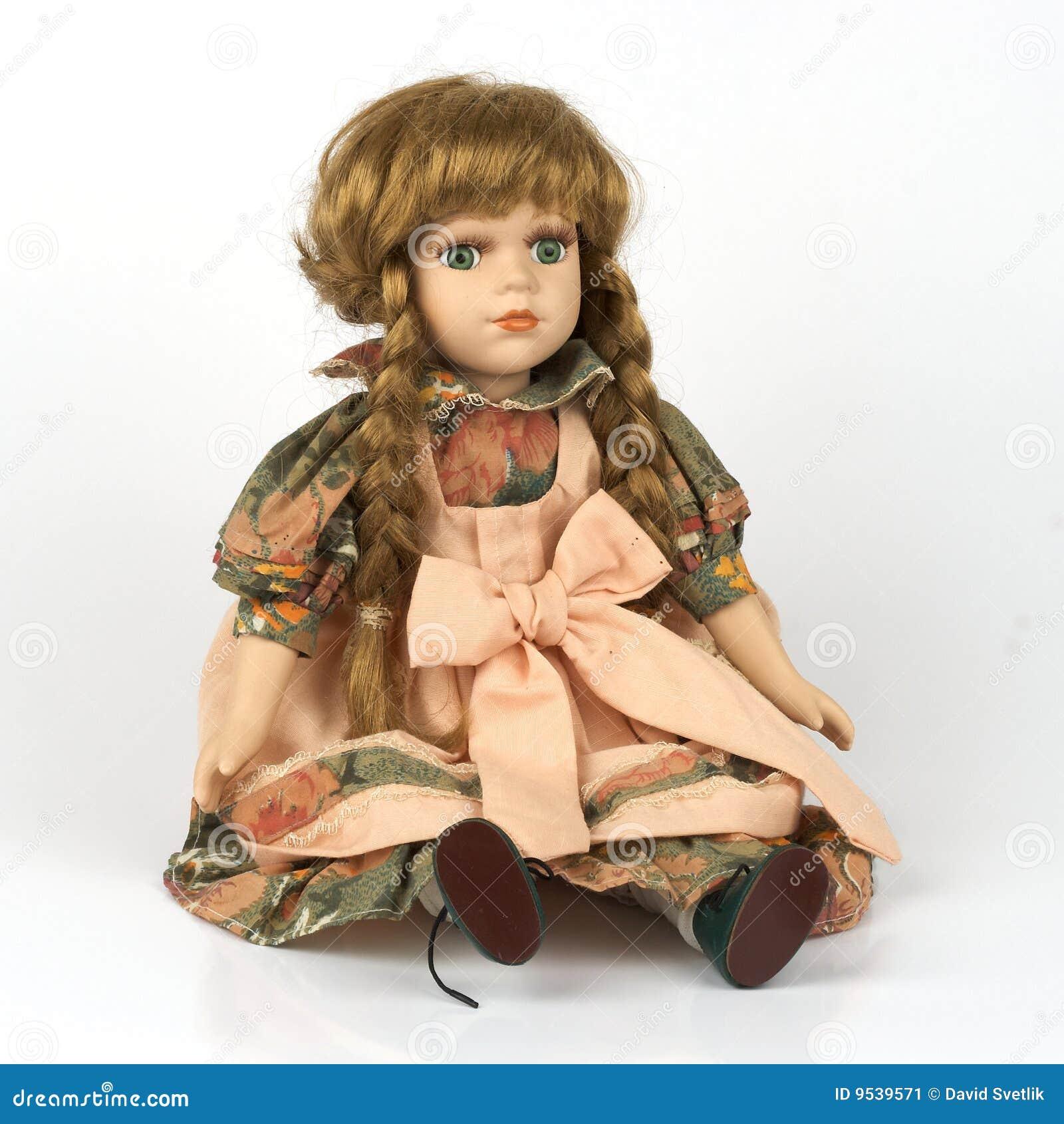 Stary ceramiczny dolly