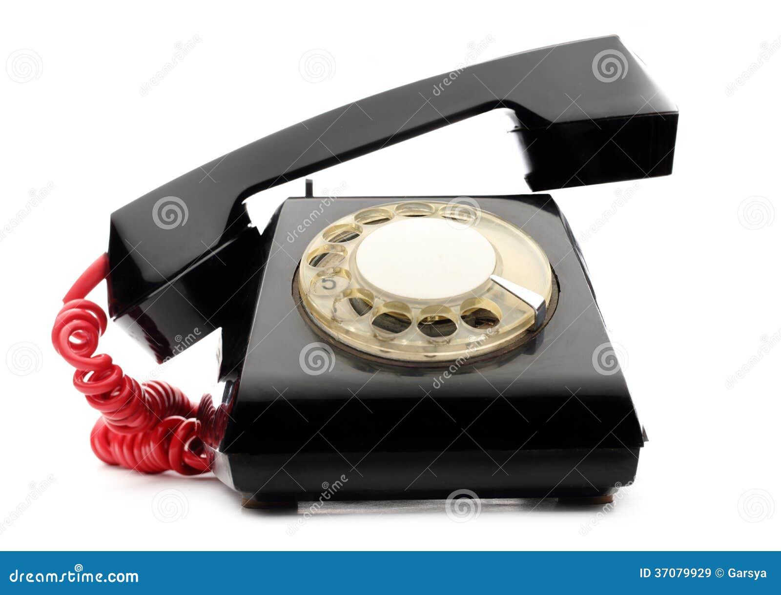 Download Stary czerń telefon obraz stock. Obraz złożonej z tradycyjny - 37079929