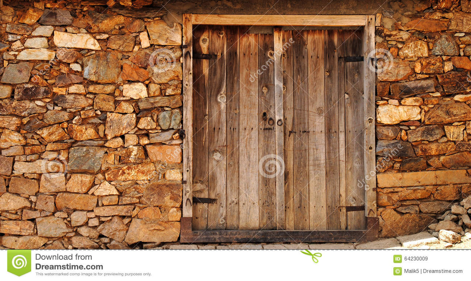 Stary drewniany drzwi