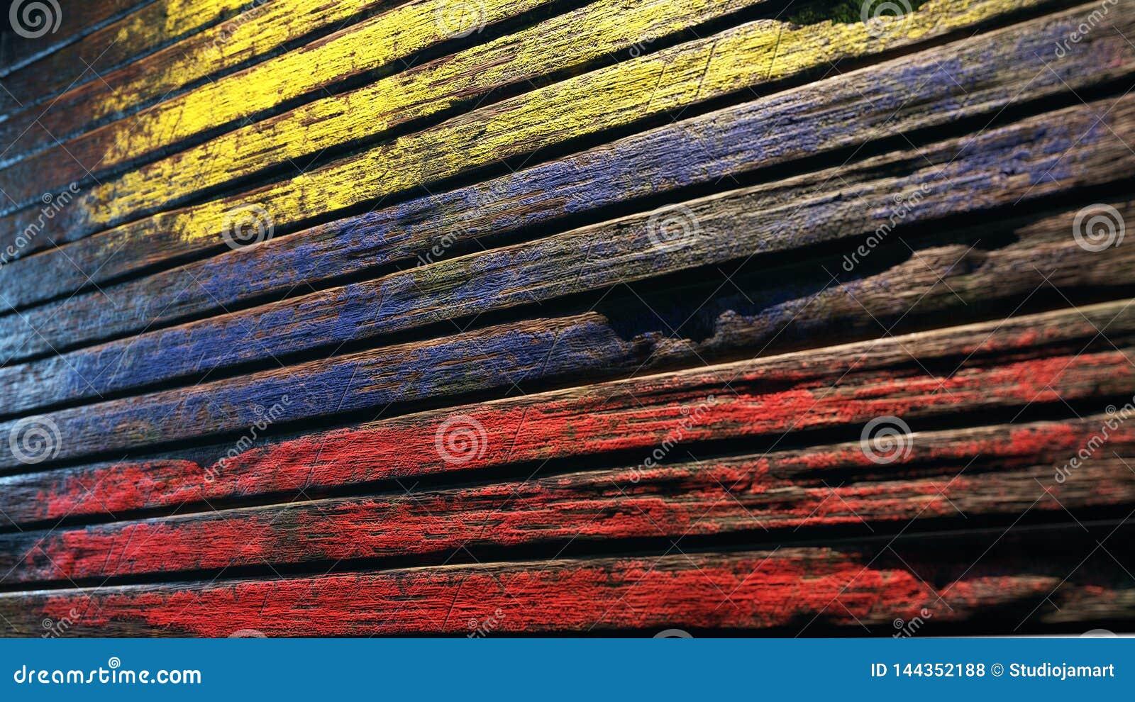 Stary drewniany tekstury tła apocalypse