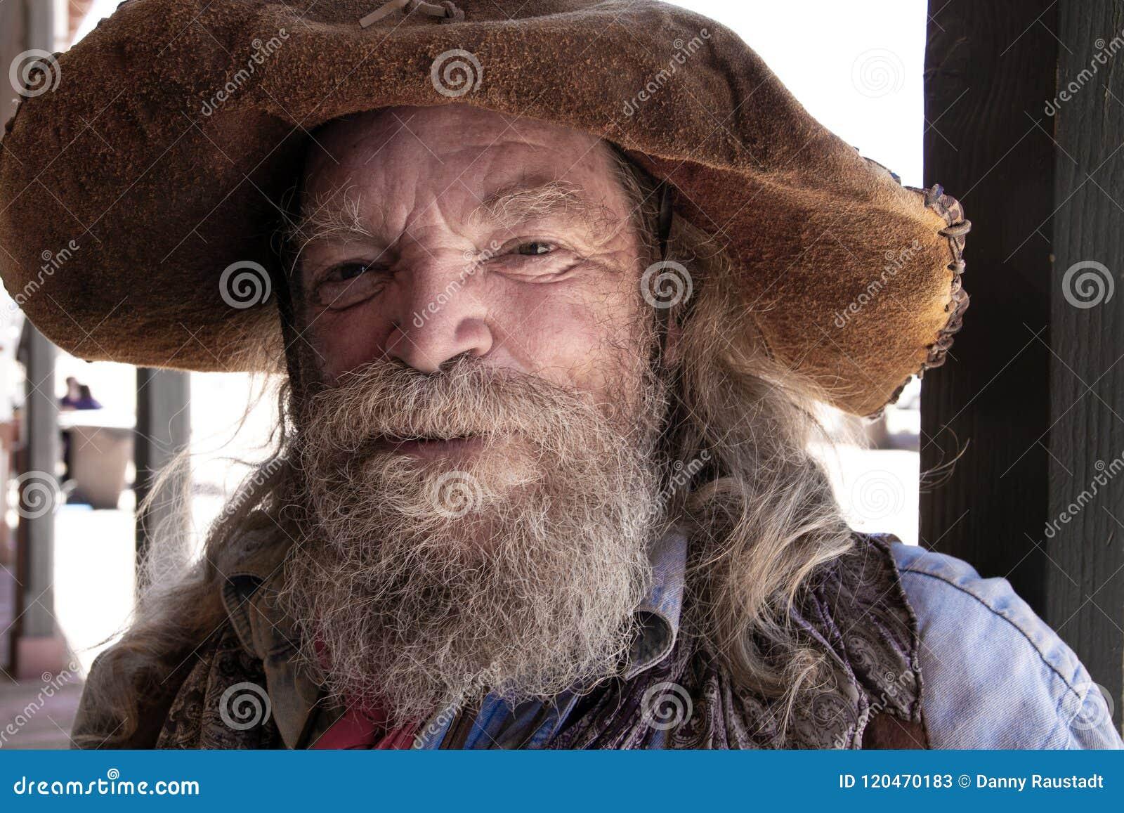 Stary Dziki Zachodni Kowbojski górnika charakter