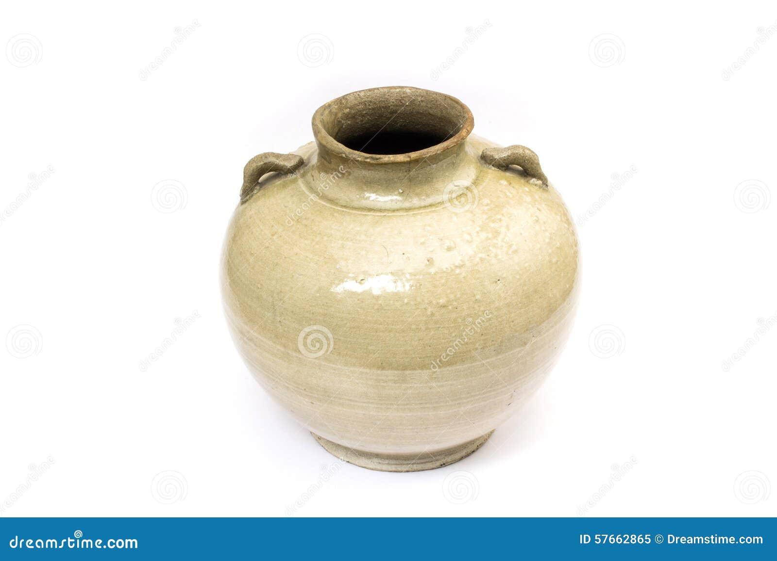 Stary earthenware słój