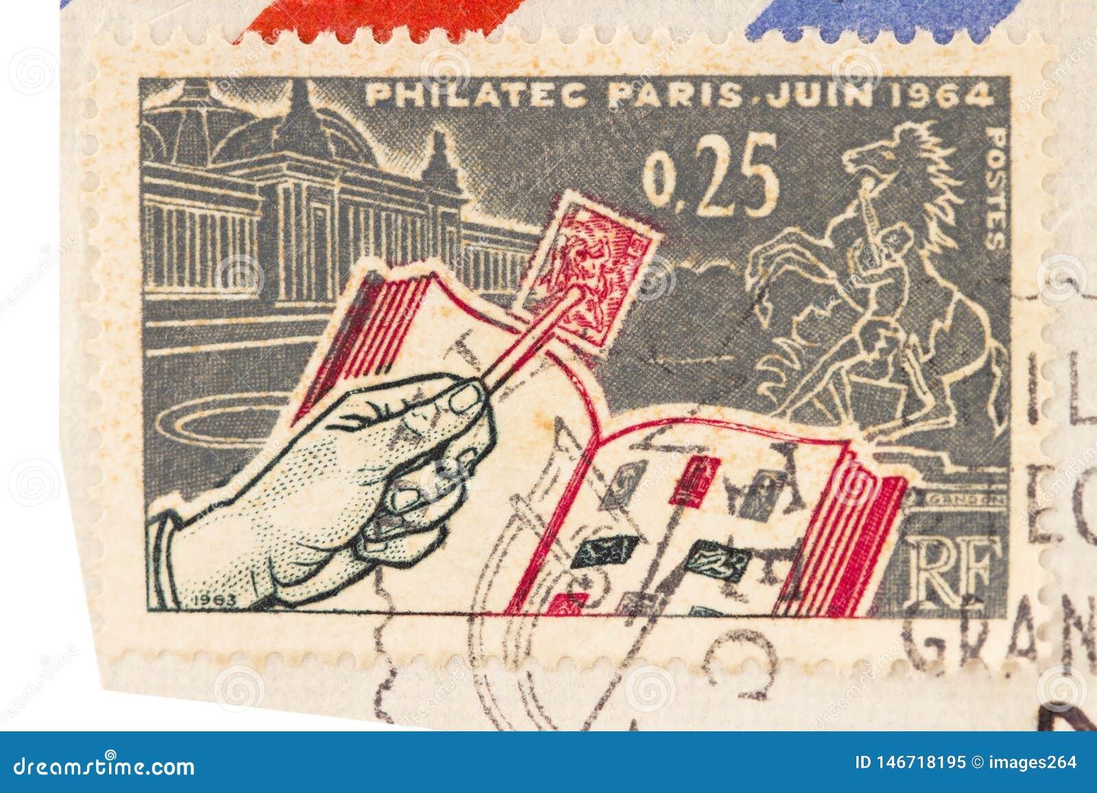 Stary Francuski poczta znaczek