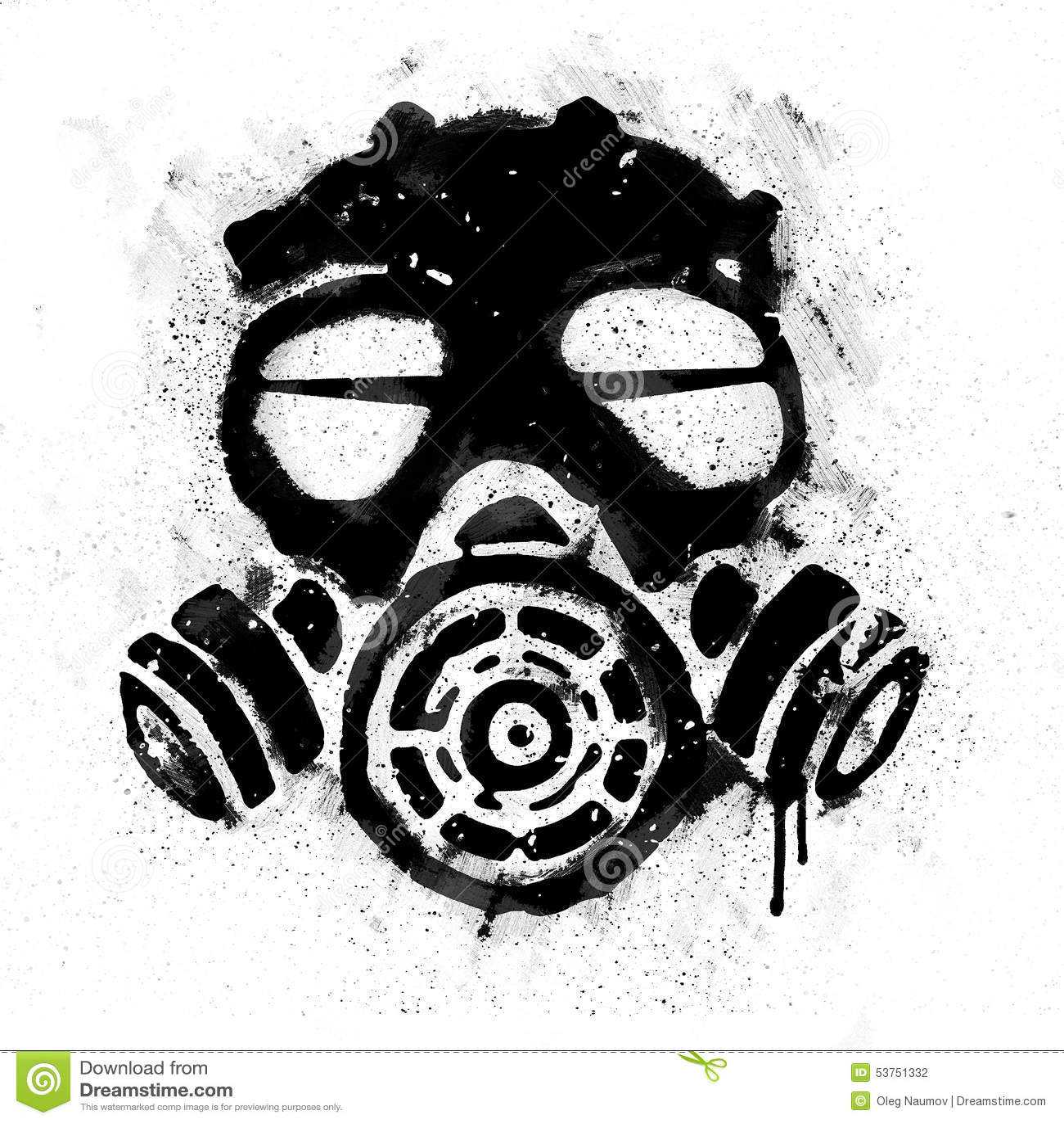 Stary gazowy maski morza
