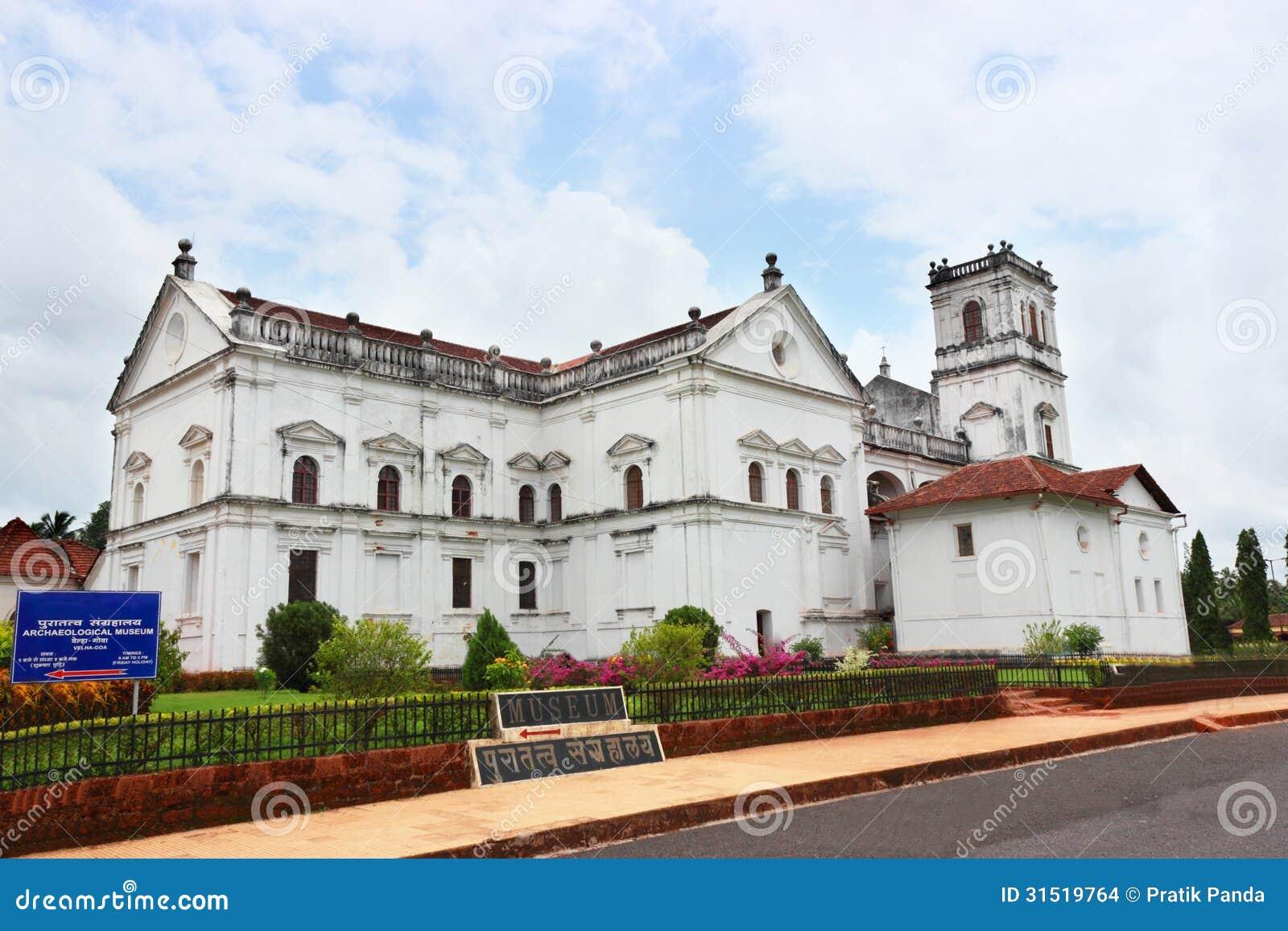 Stary Goa katedralny kościelny budynek