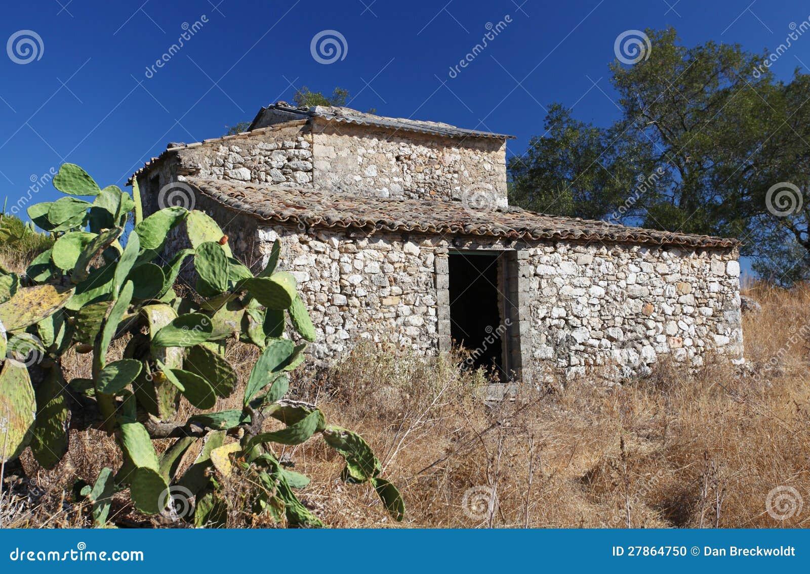 Stary Grecki dom wiejski