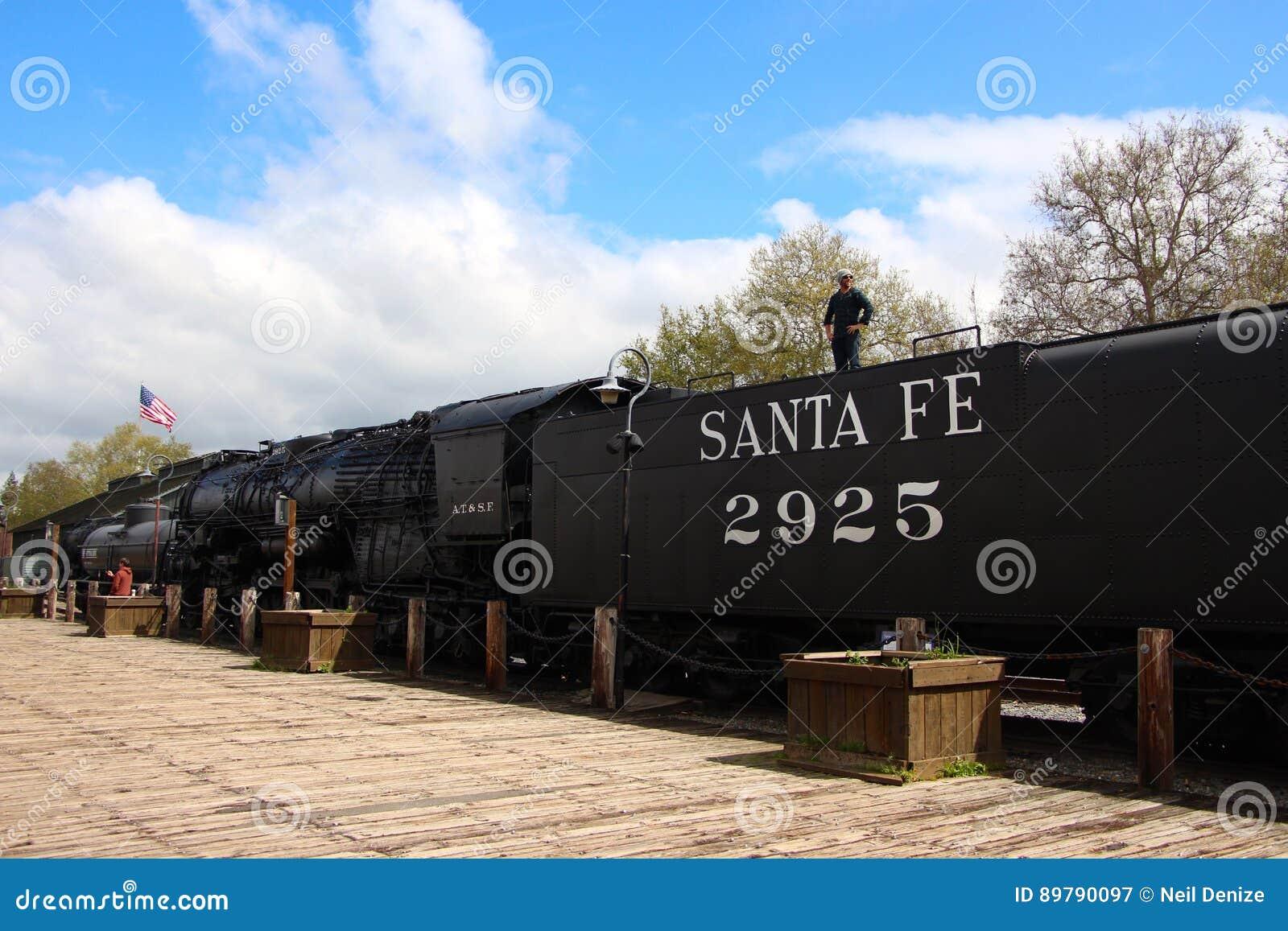 Stary grodzki Sacramento pociągu Kalifornia usa