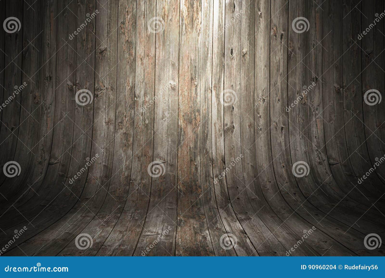 Stary grungy wyginający się drewniany tło śliwek 3 d łatwej edycji ilustrację do akt ścieżka świadczenia