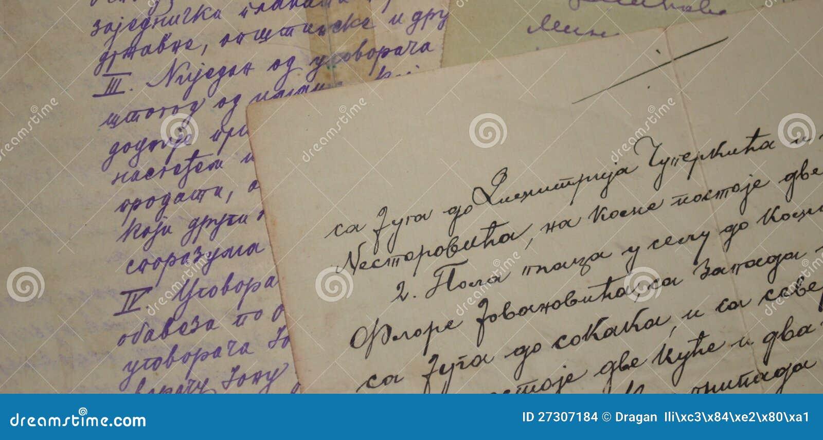 Stary handwriting