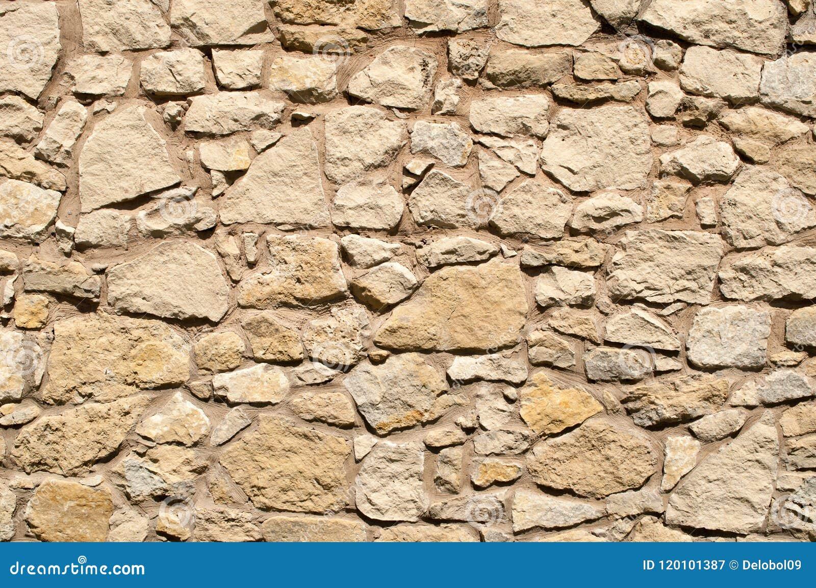 Stary kamiennej ściany jasnobrązowy brzmienie