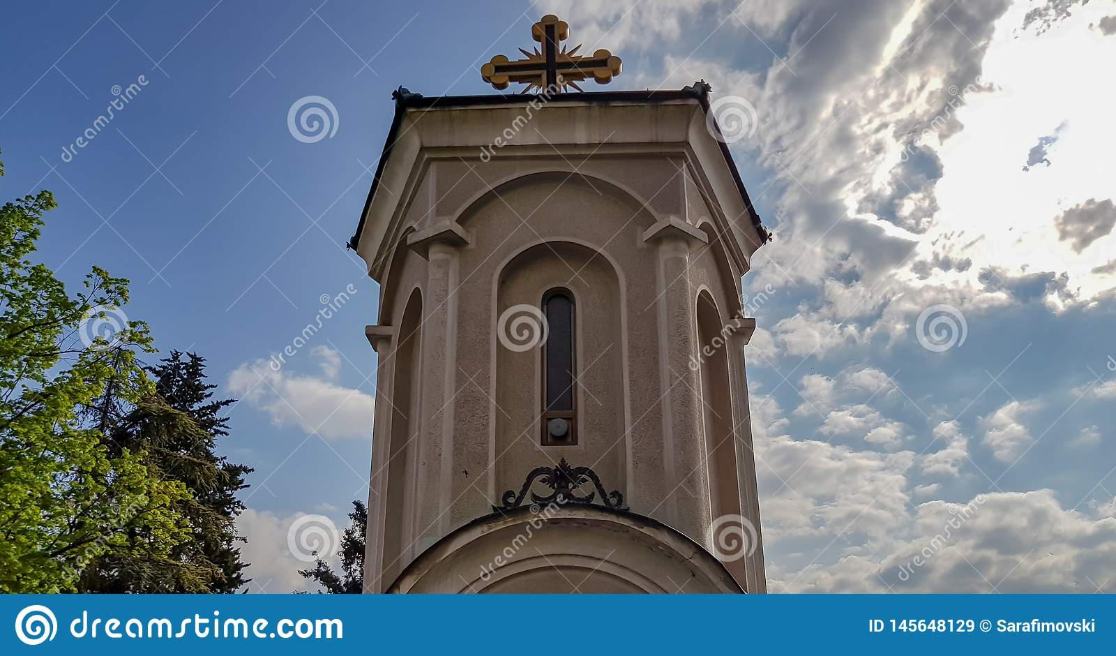 Stary kamienny kościół w Skopje, Macedonia na pi?knym letnim dniu