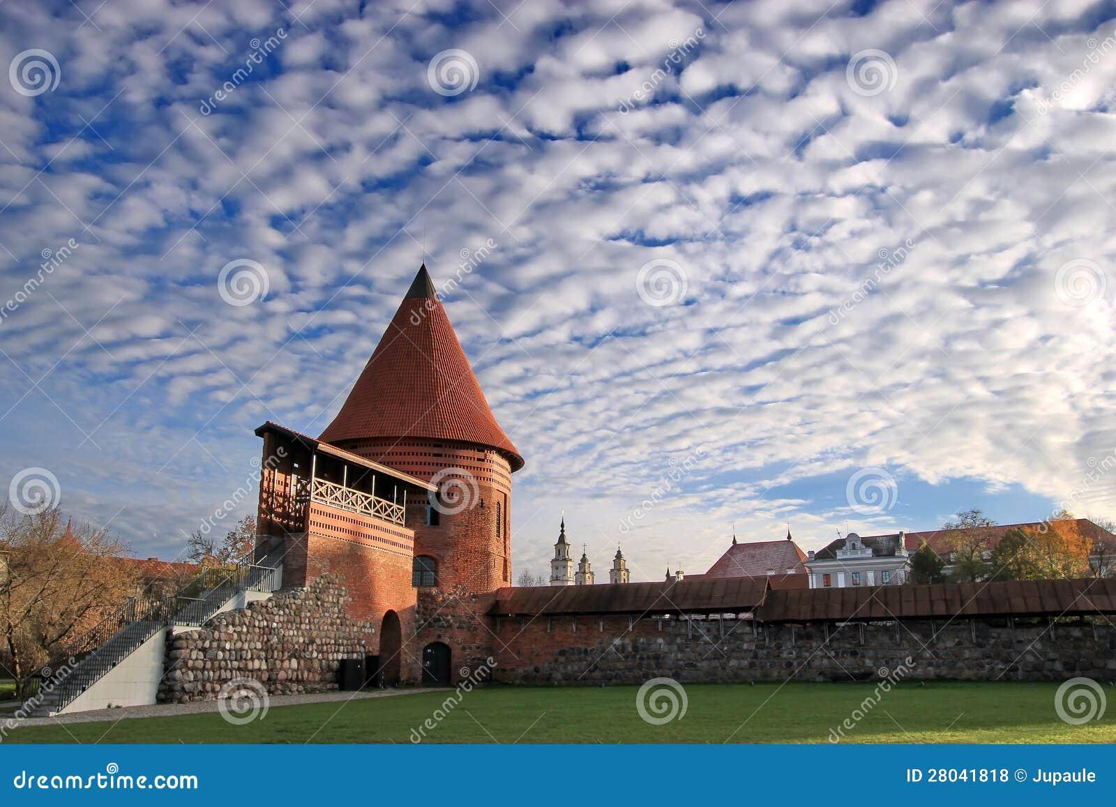 Stary kasztel w Kaunas mieście
