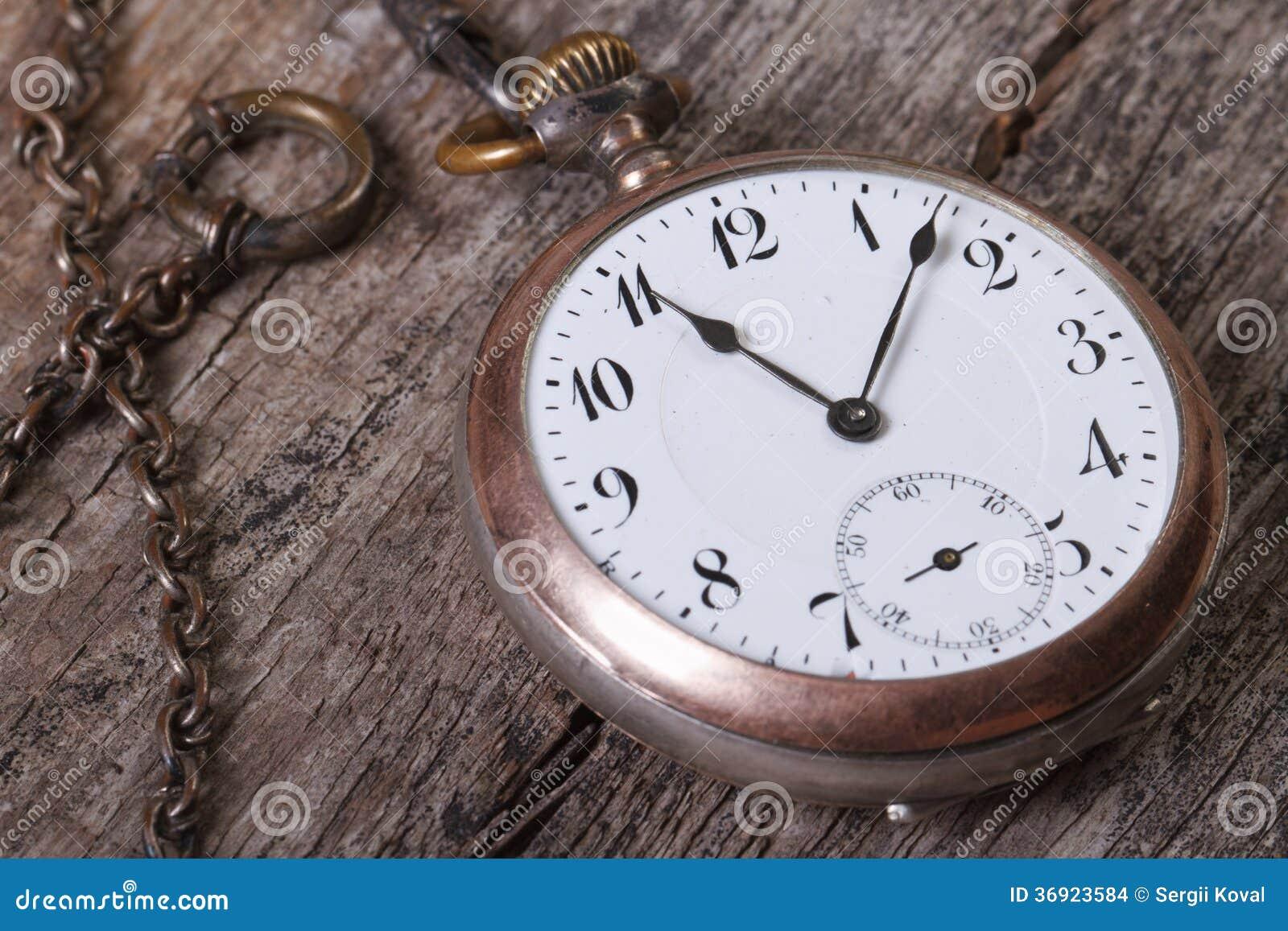 Stary kieszeniowy zegarek na łańcuchu
