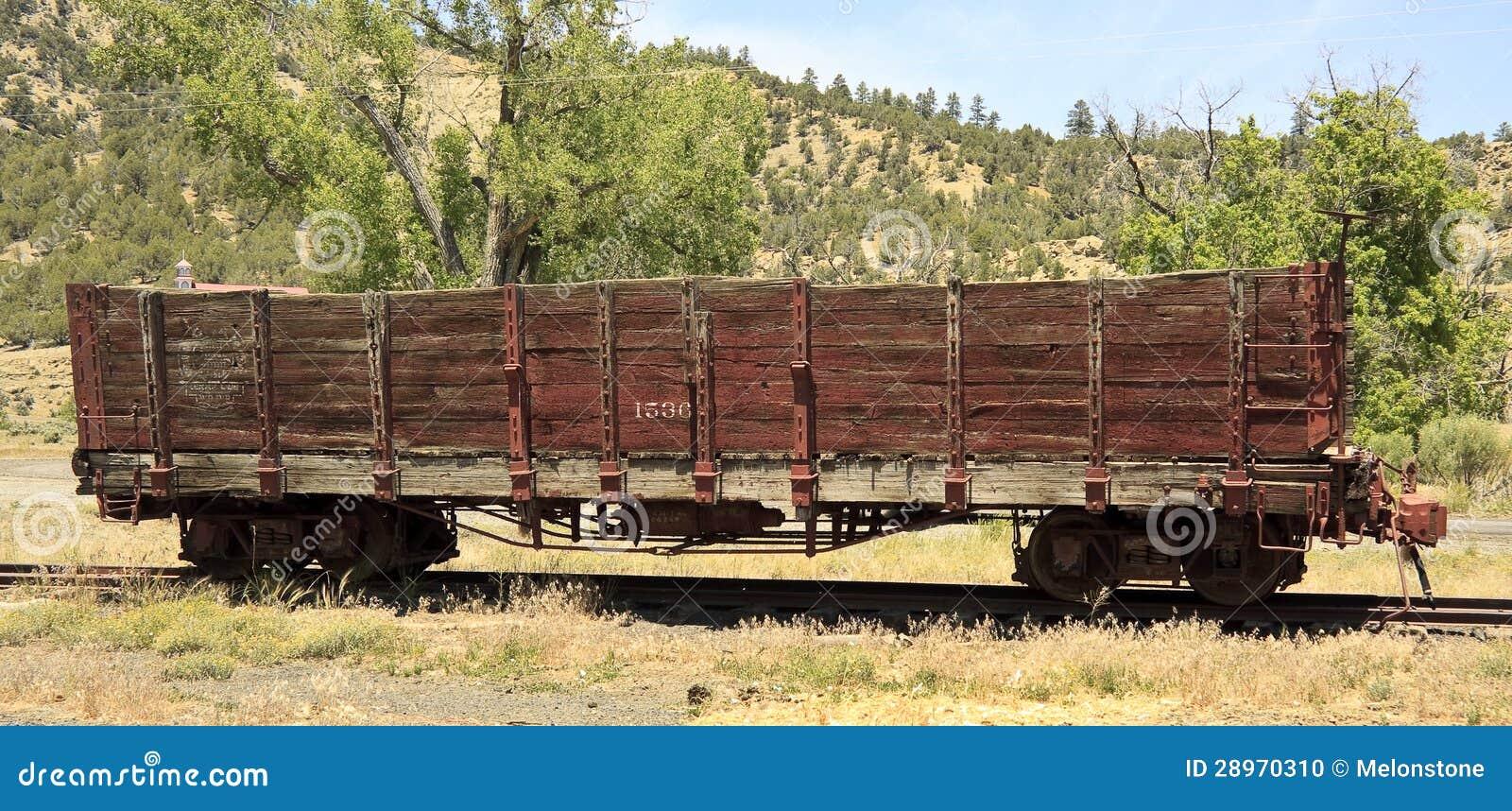 Stary linia kolejowa skakacza samochód