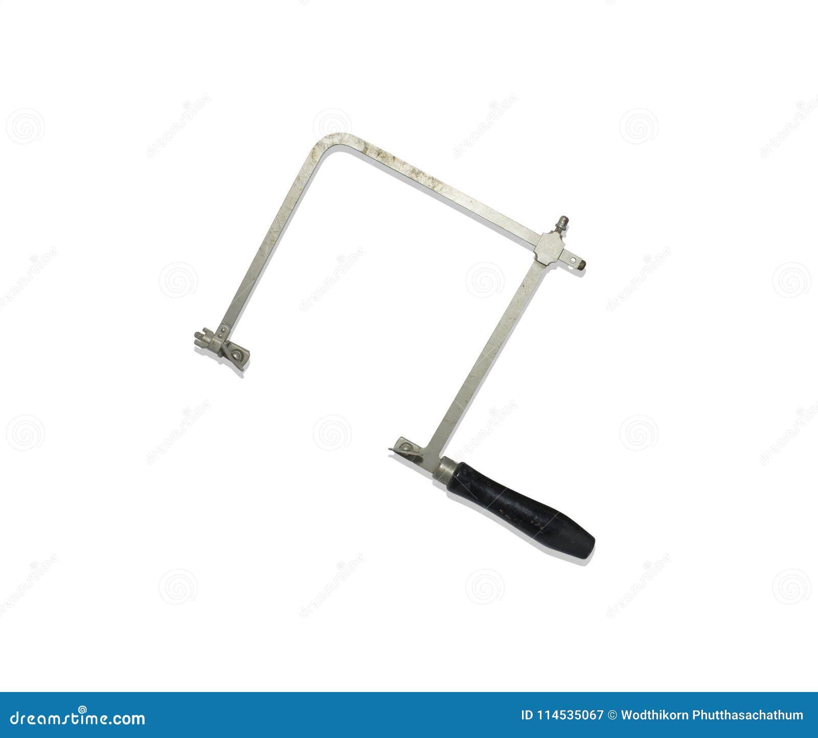 Stary metal gryźć saw narzędzie odizolowywającego