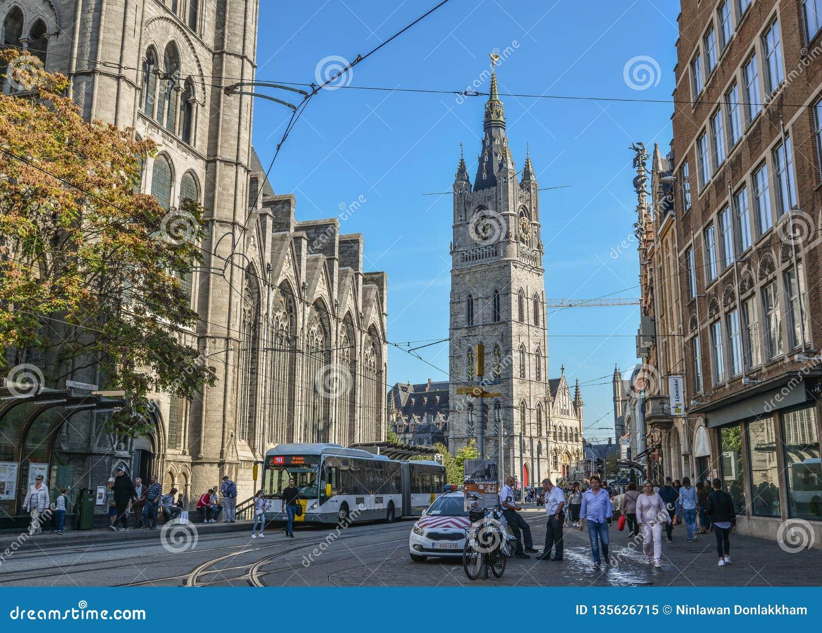 Stary miasteczko Ghent, Belgia