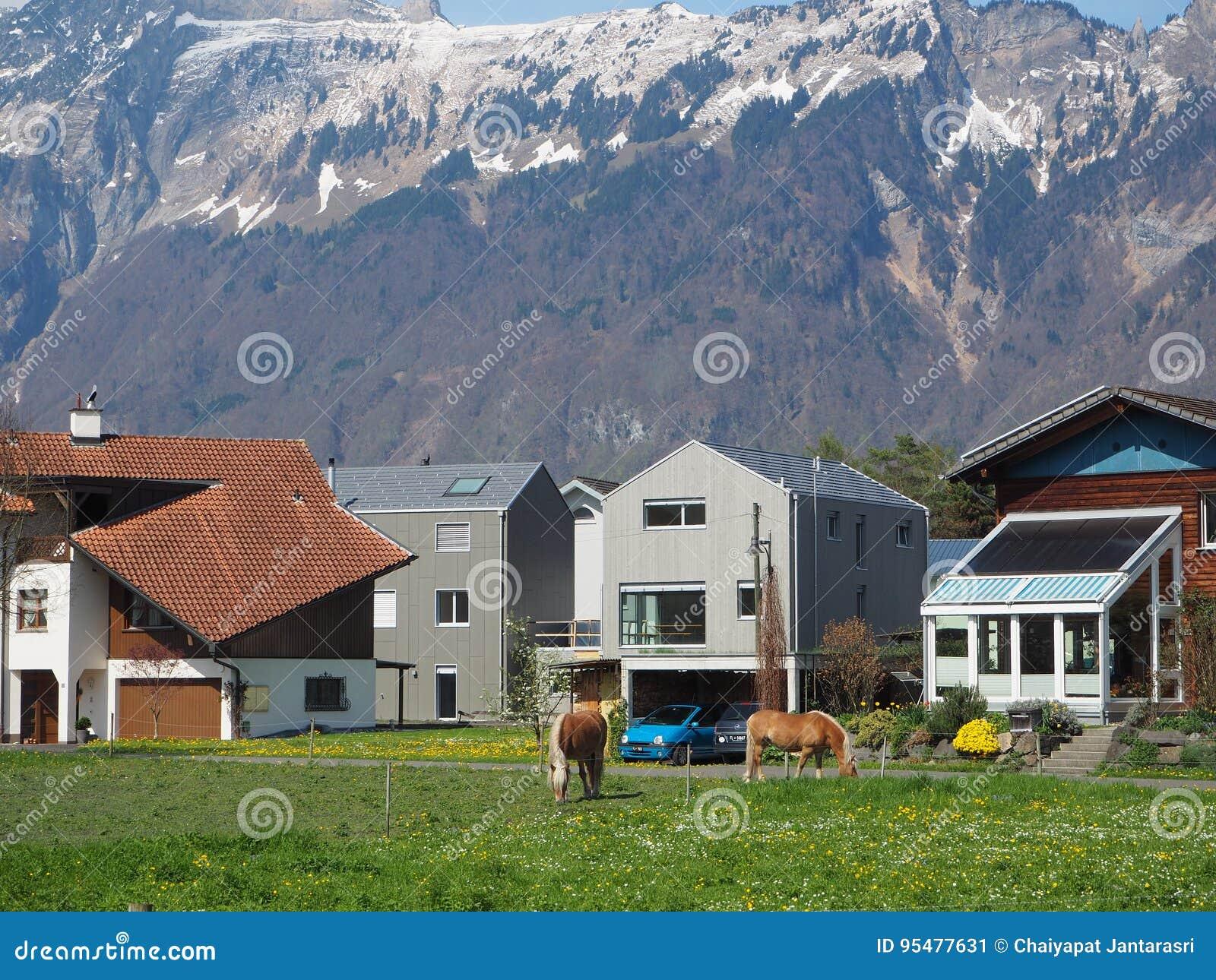 Stary miasteczko w Switzerland
