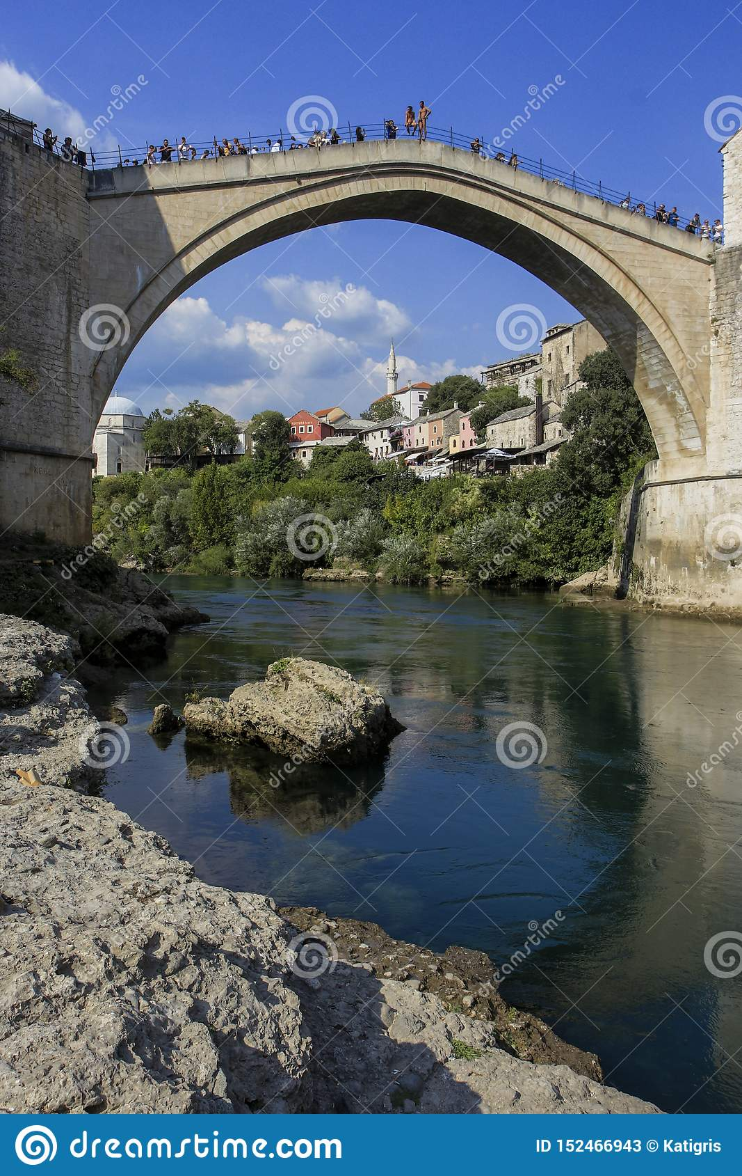 Stary miasto atmosfery Mostar most