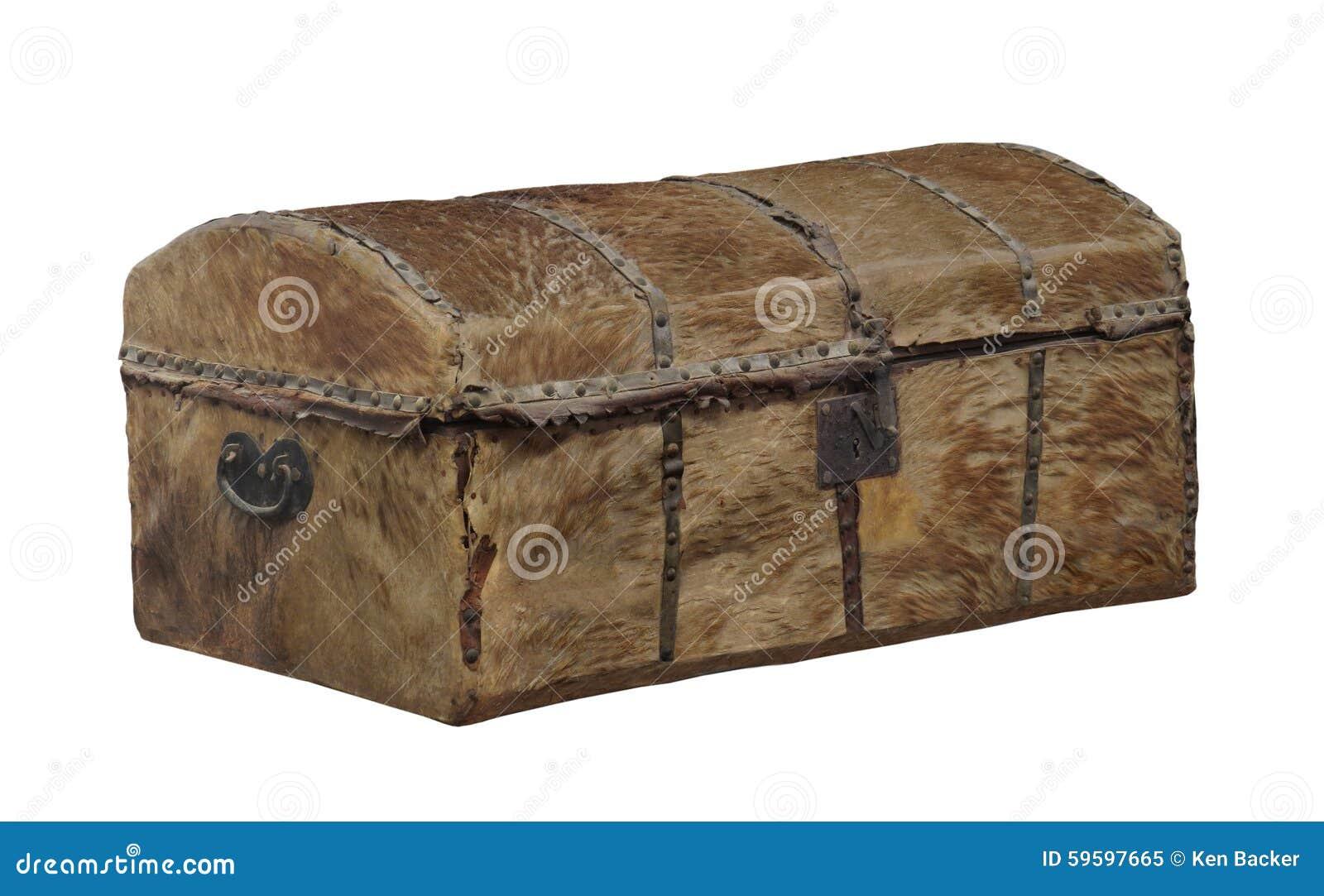 Stary niegarbowany zakrywający bagażnik odizolowywający