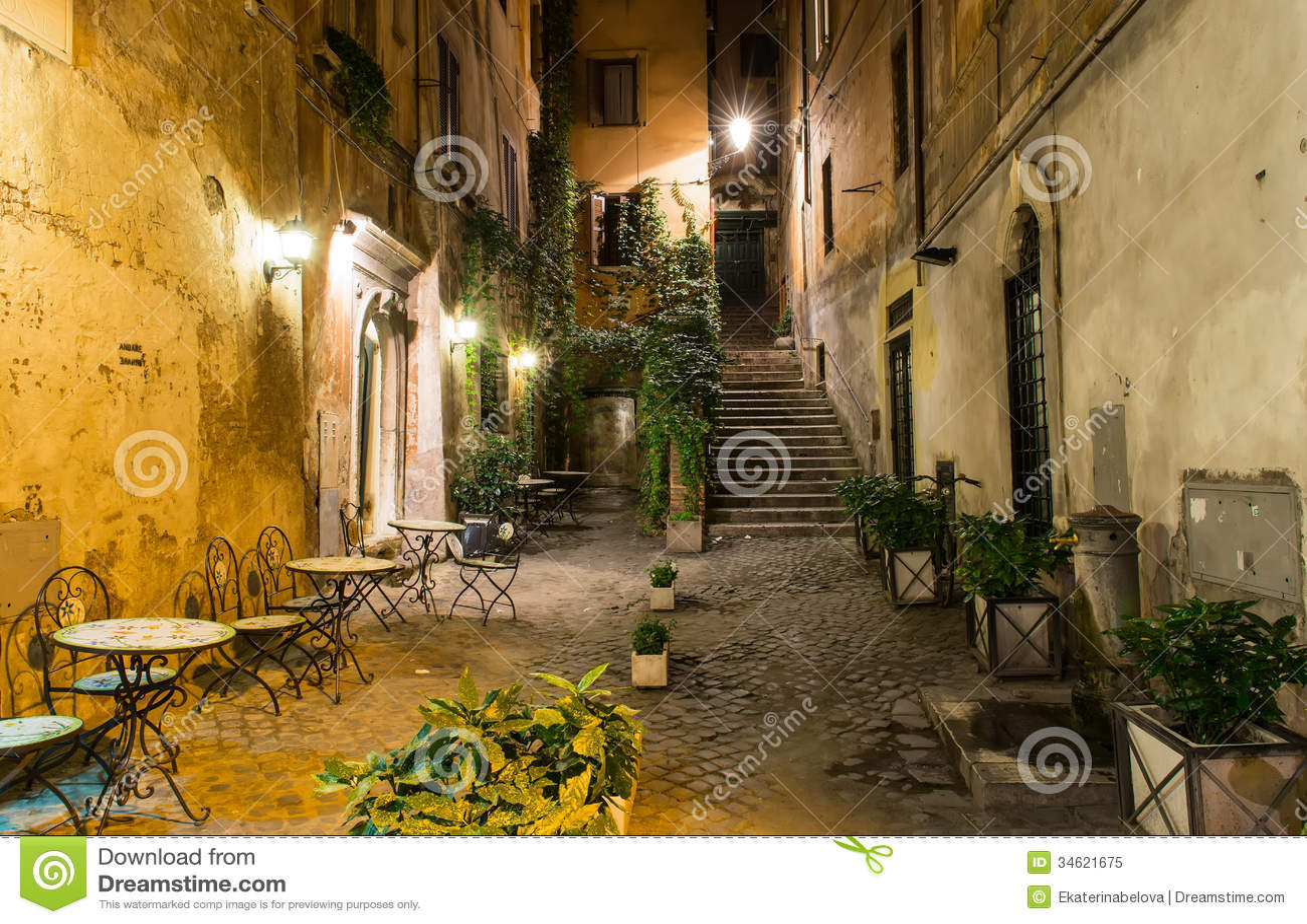 Stary podwórze w Rzym