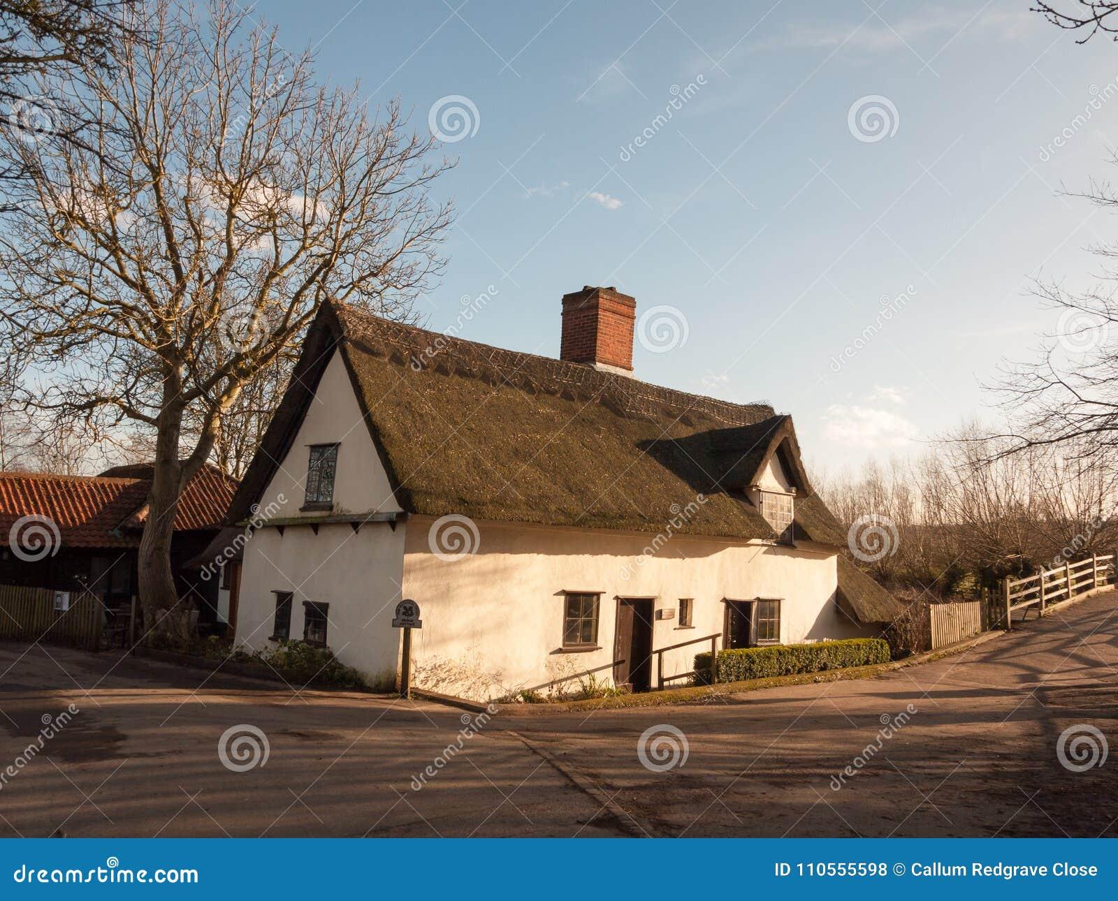 Stary retro unikalny chałupa domu flatford dedham England