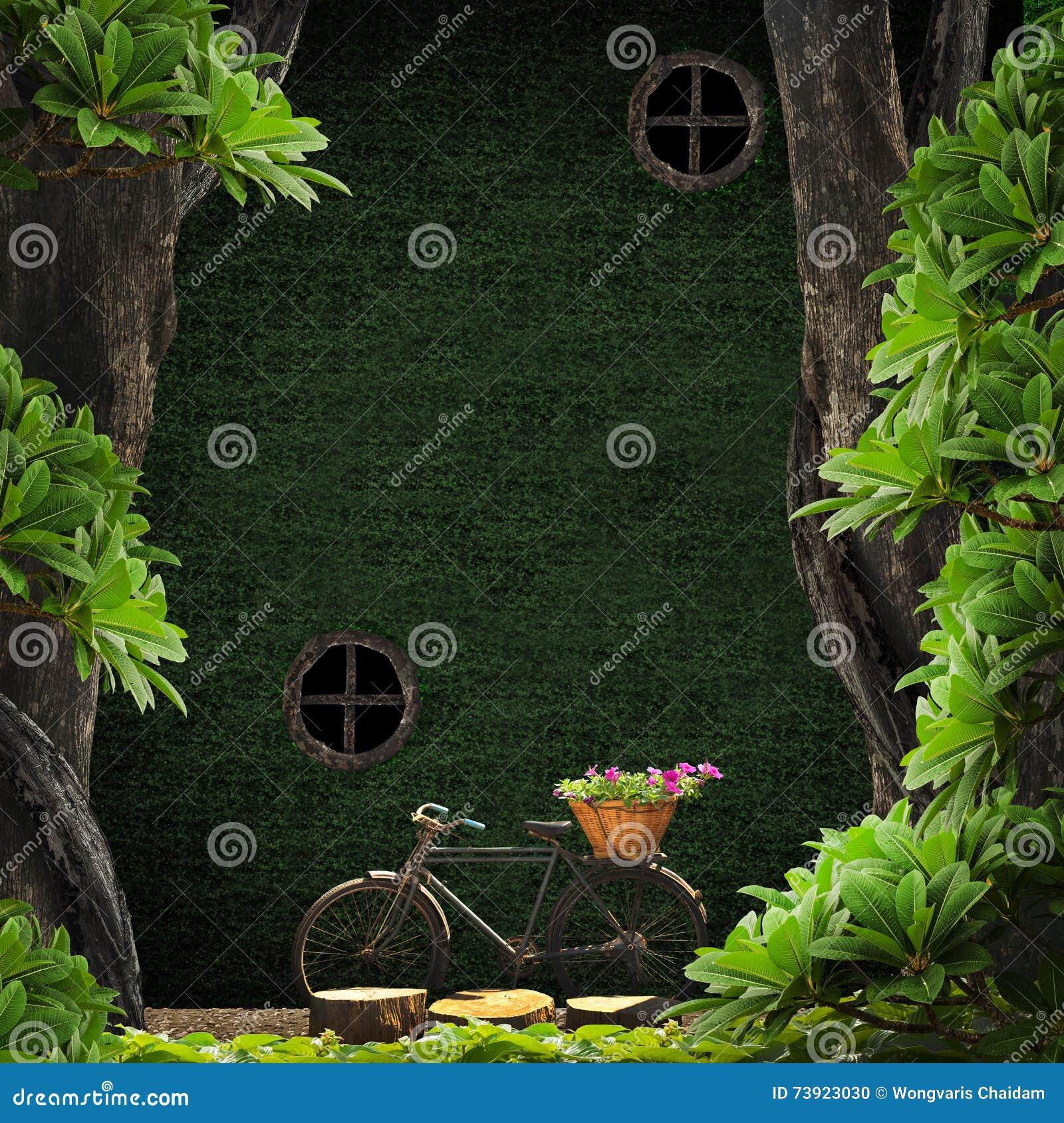 Stary rower w ogródzie