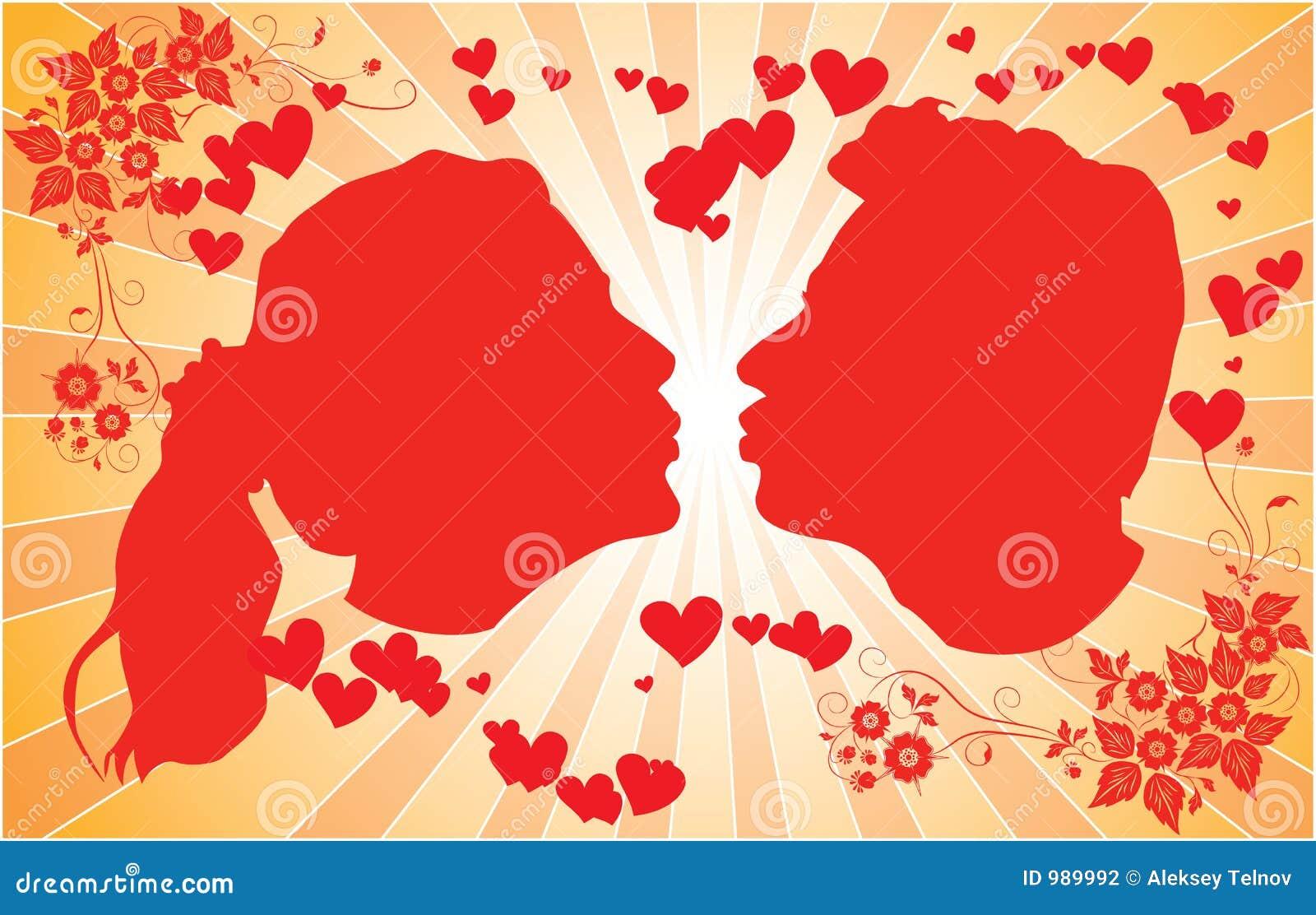 Stary sylwetek wektora całowanie kobiety