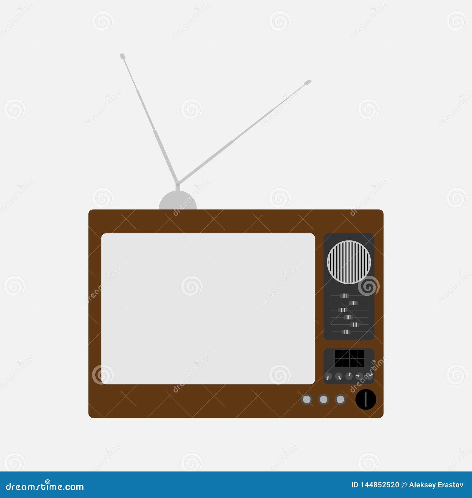 Stary telewizor retro tv r?wnie? zwr?ci? corel ilustracji wektora