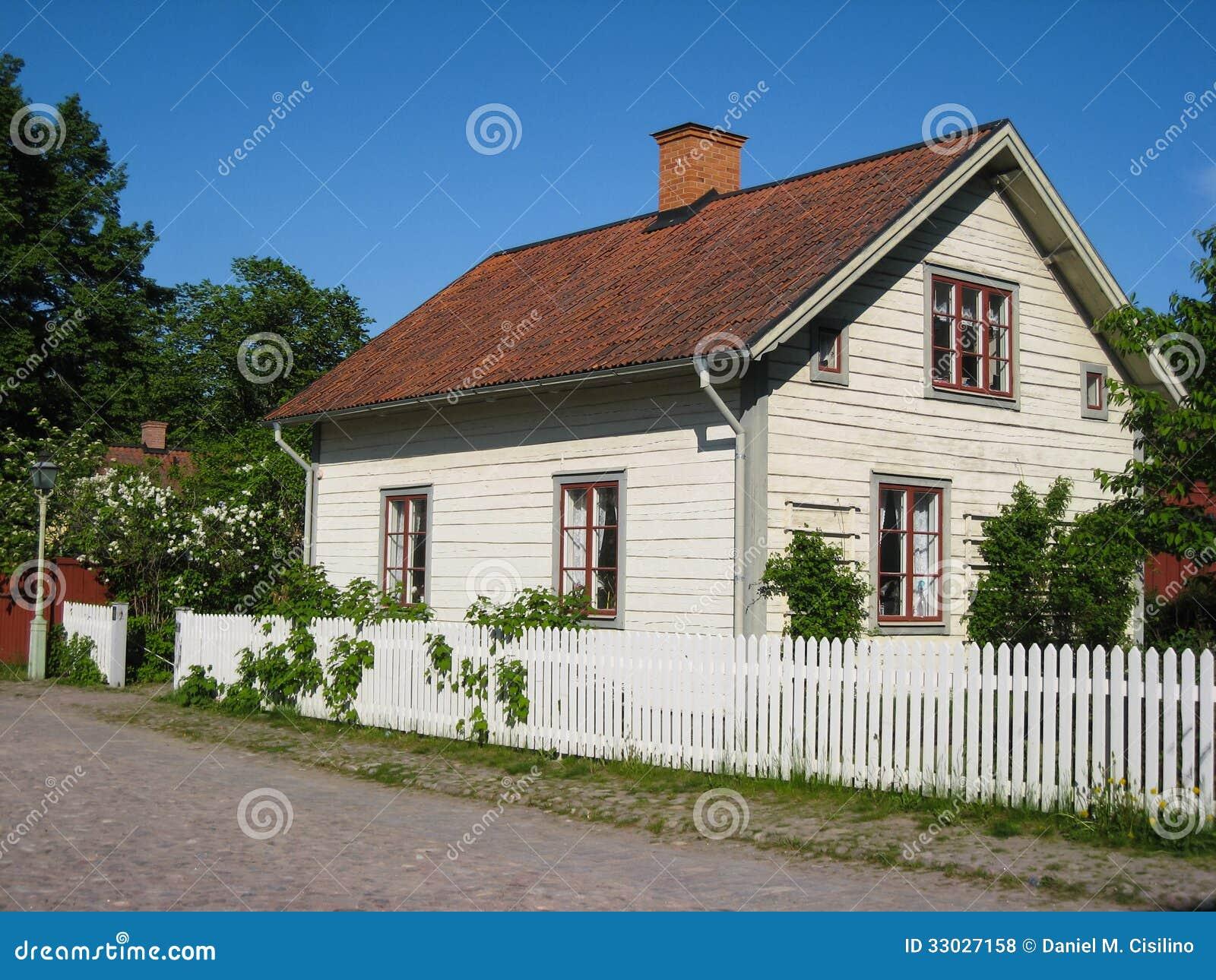 Stary tradycyjny szwedzi dom. Linkoping. Szwecja.