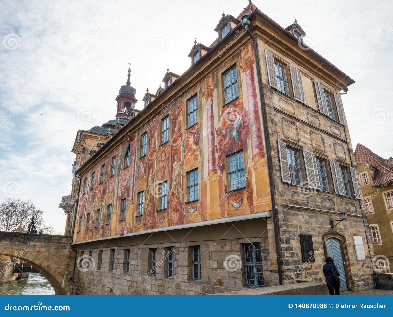 Stary urząd miasta, nazwany Altes Rathaus w niemiec w Bamberg