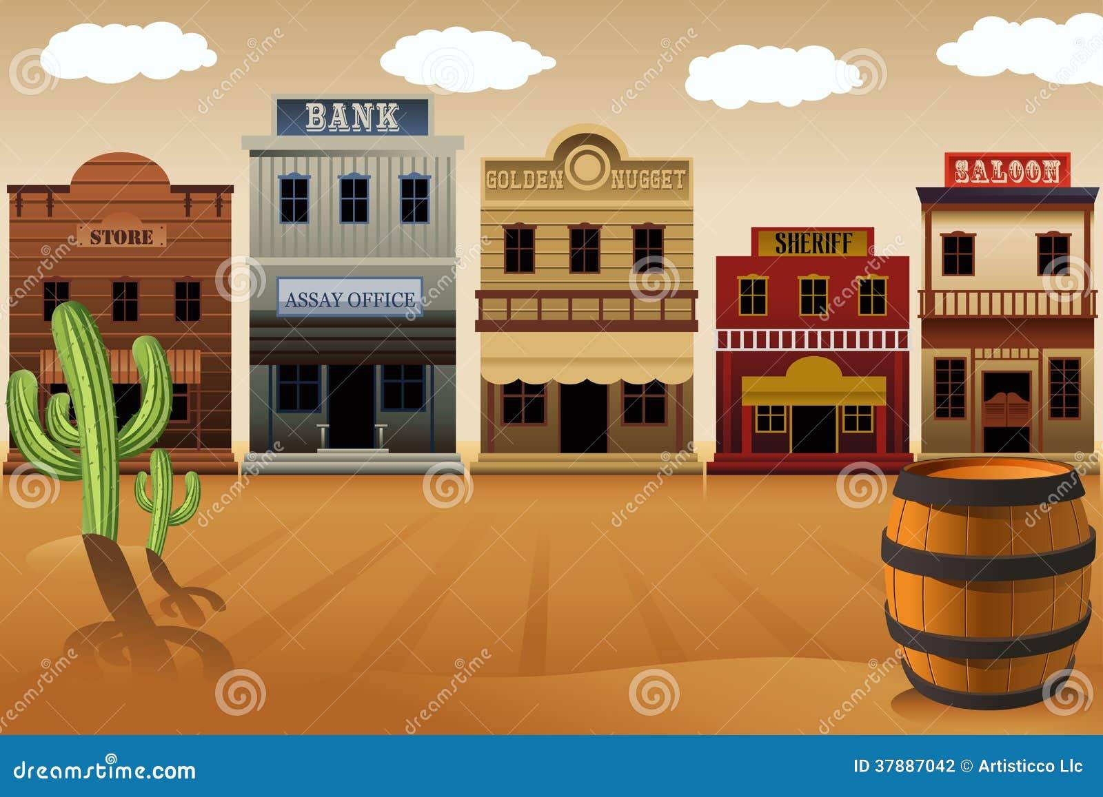 Stary zachodni miasteczko