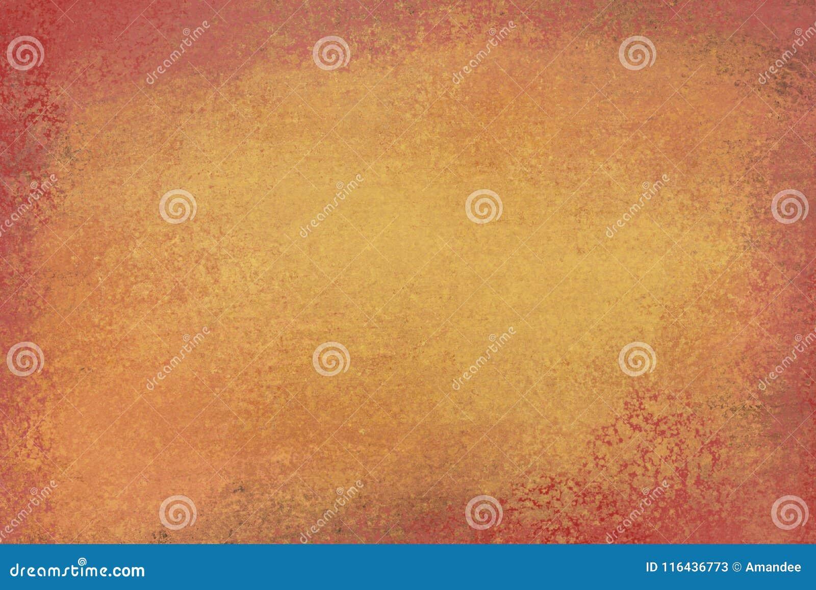 Stary zakłopotany tło projekt z zatartą grunge teksturą w kolorach brown i pomarańczowy złoto