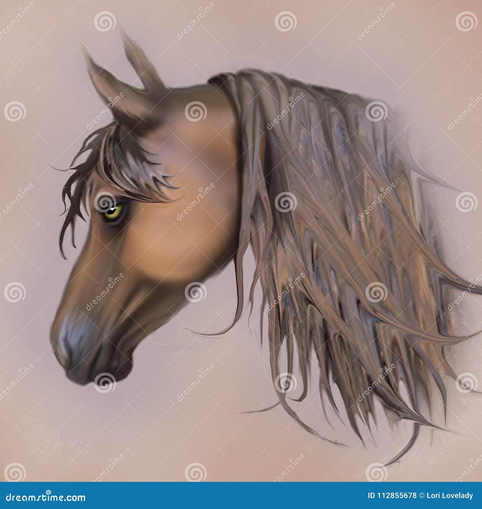 Stary zmęczony podławy brown i Brązowy koń