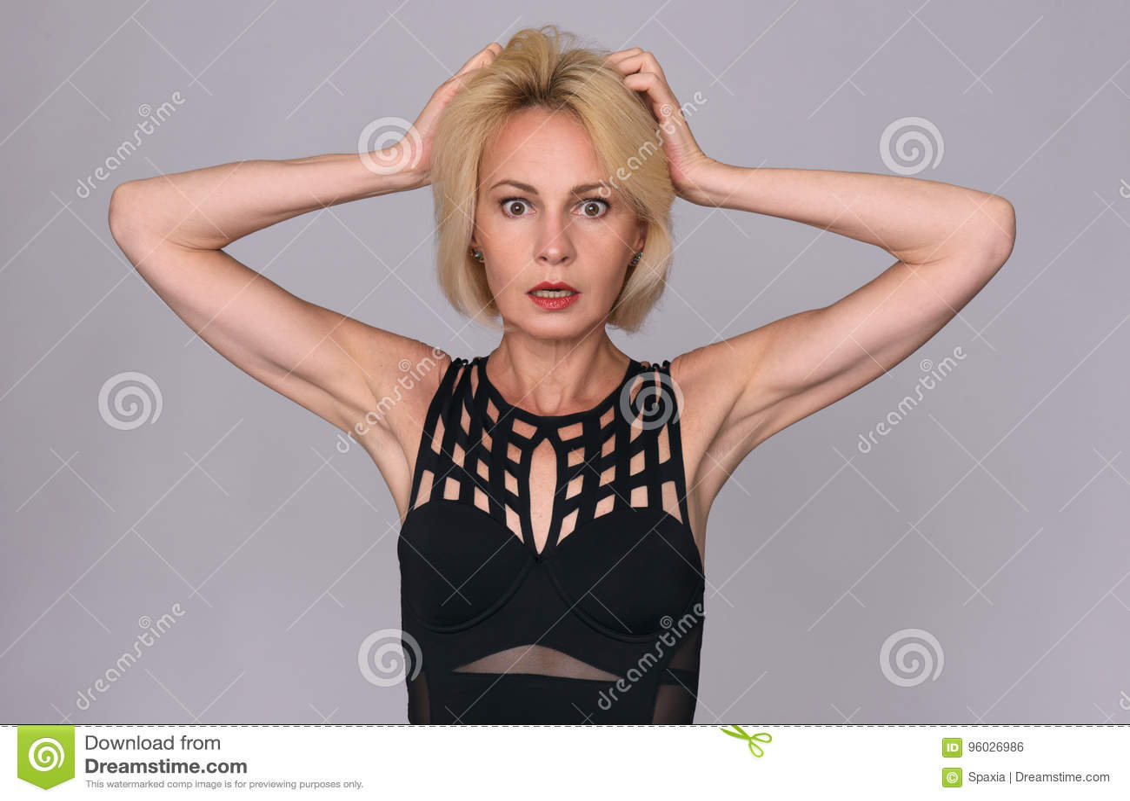 Starzenie się środek szokująca kobieta