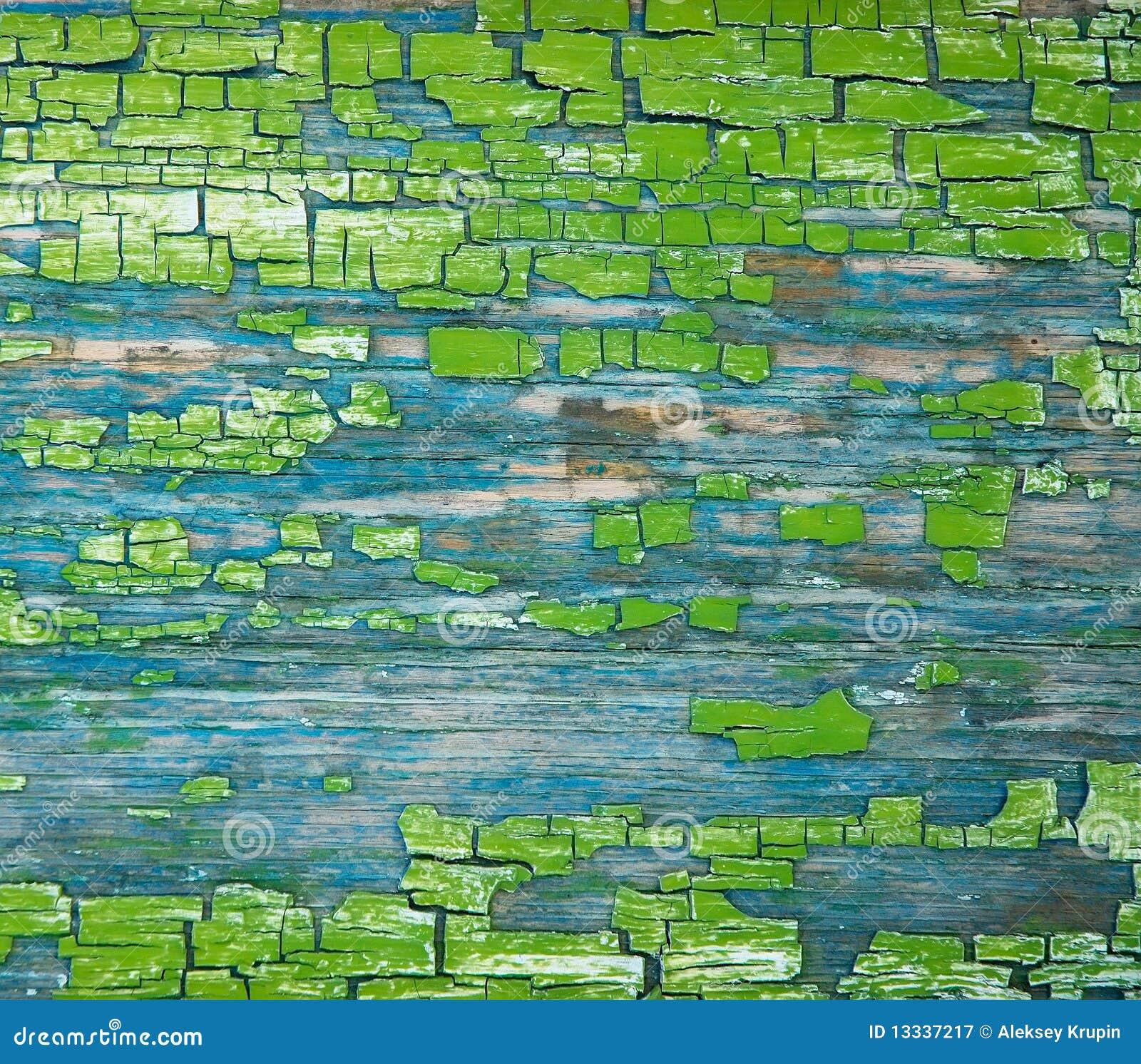 Starzenie się crackinged zielona farby tekstura