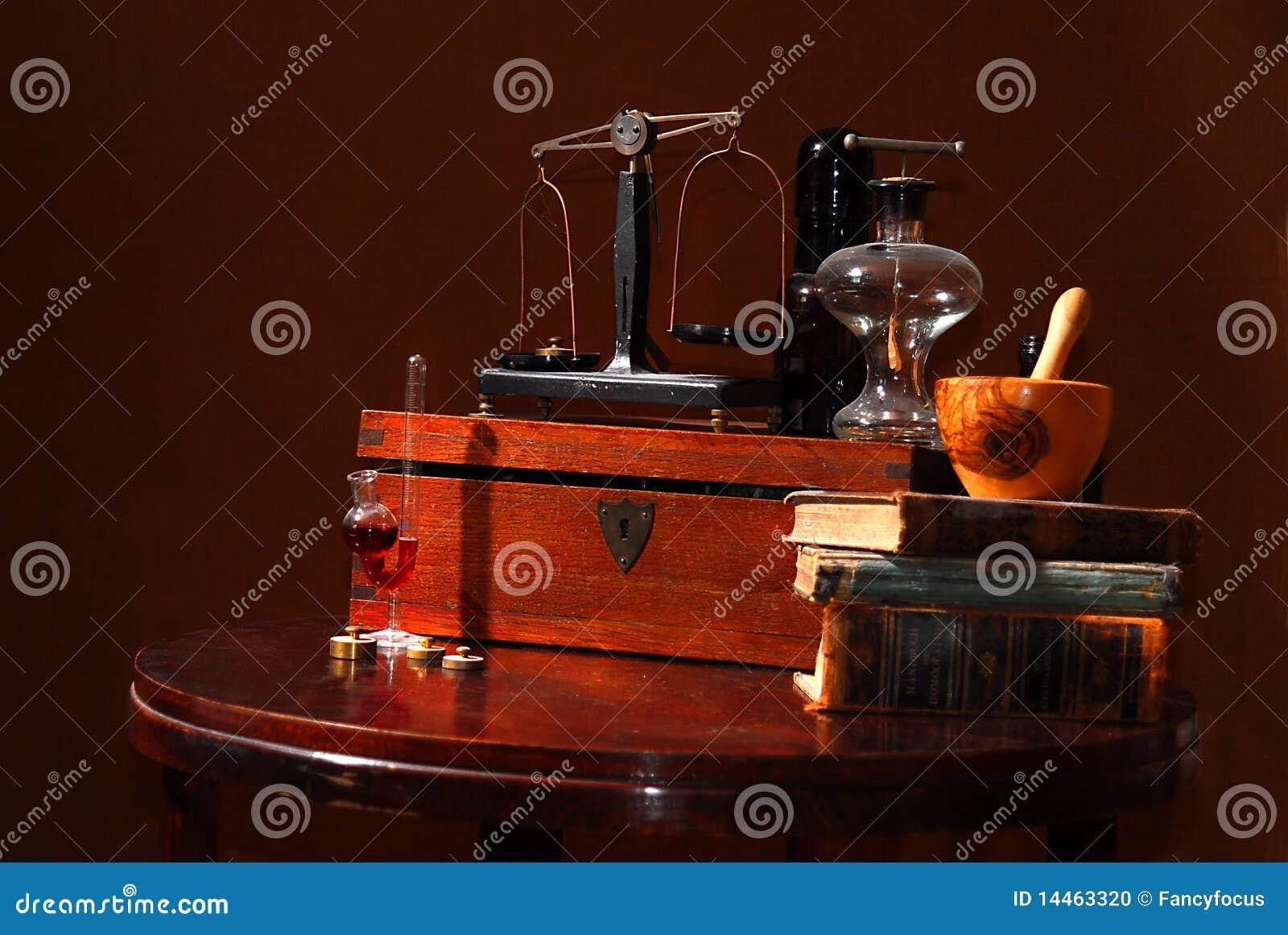 Starzy apothecary narzędzia